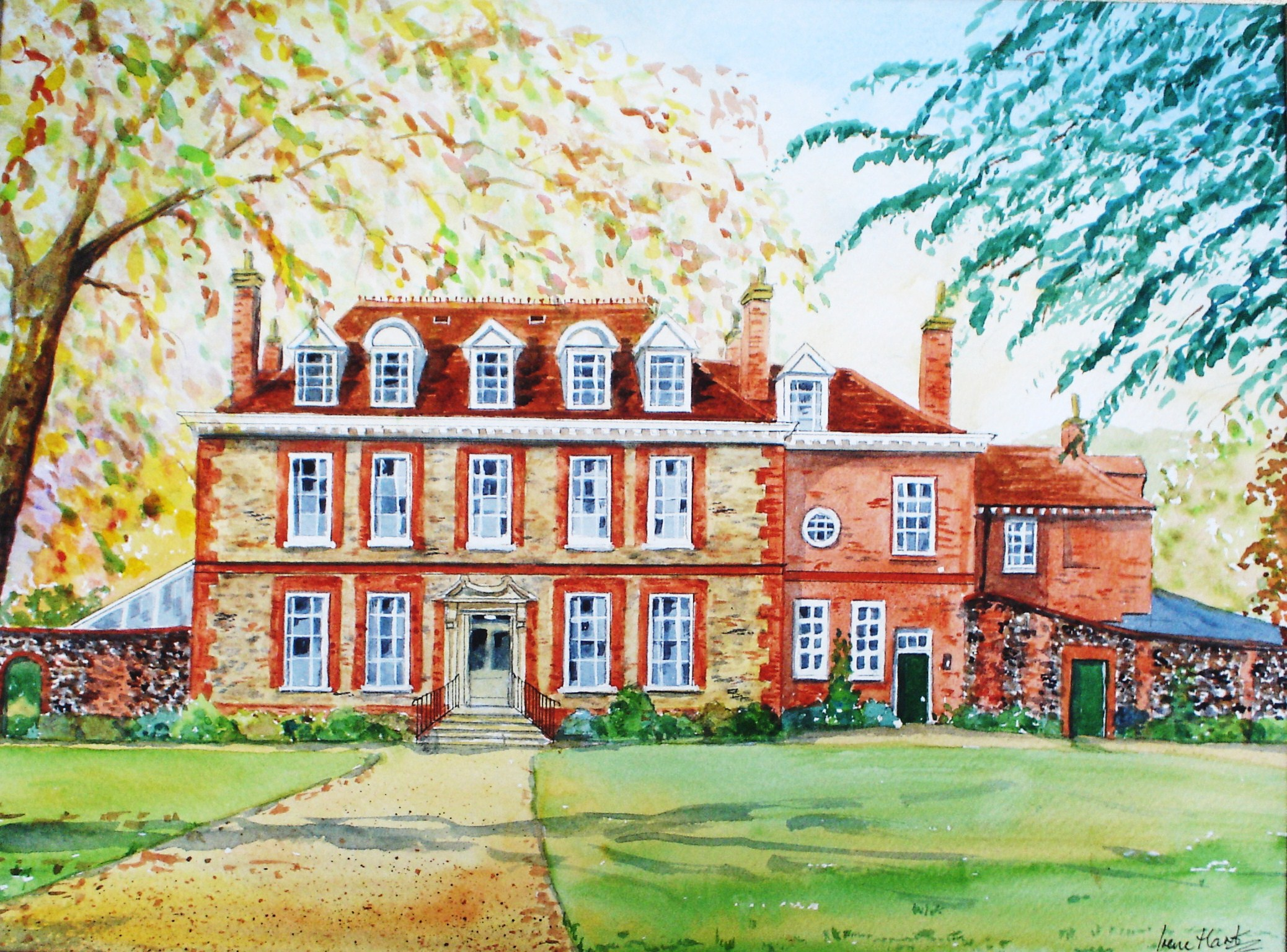 Abbot's Hall, Stowmarket (Watercolour)