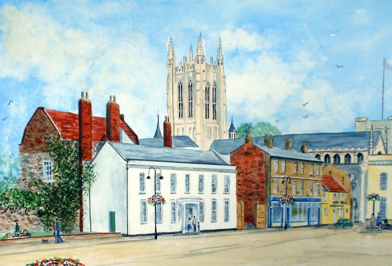 Angel Hill, Bury St. Edmunds (Watercolour)