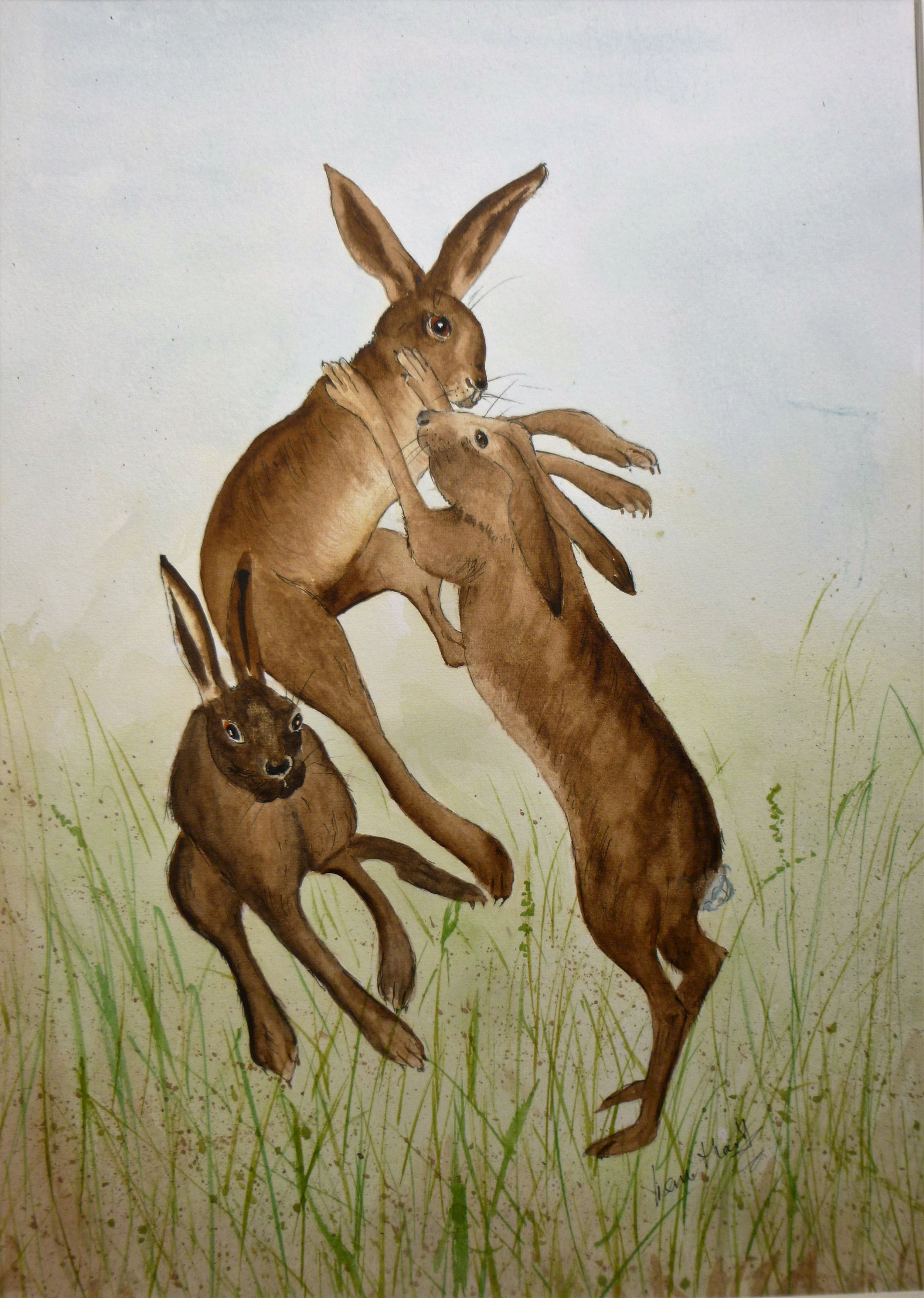Boxing Hares (3)