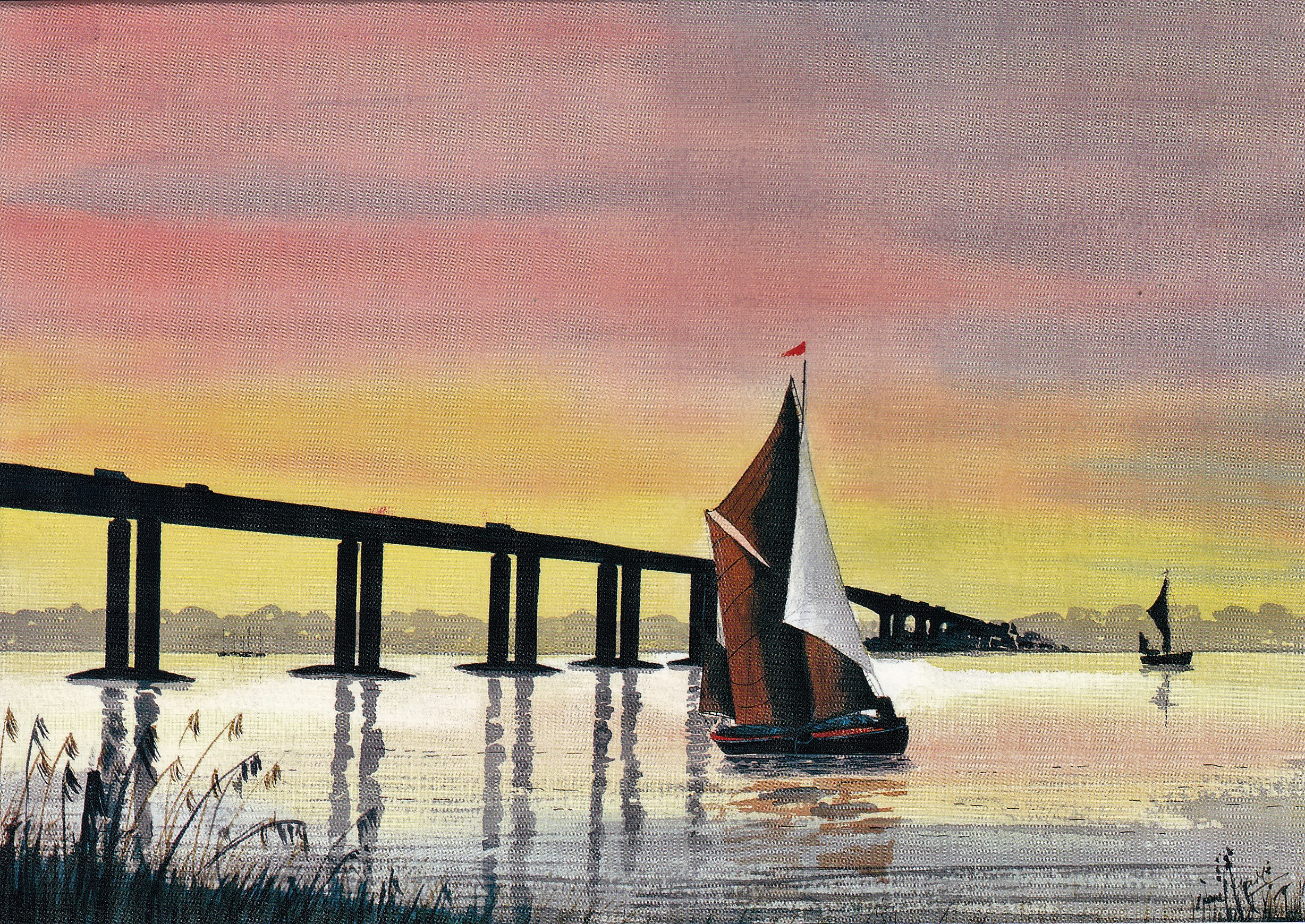 Thames Barge on the River Orwell
