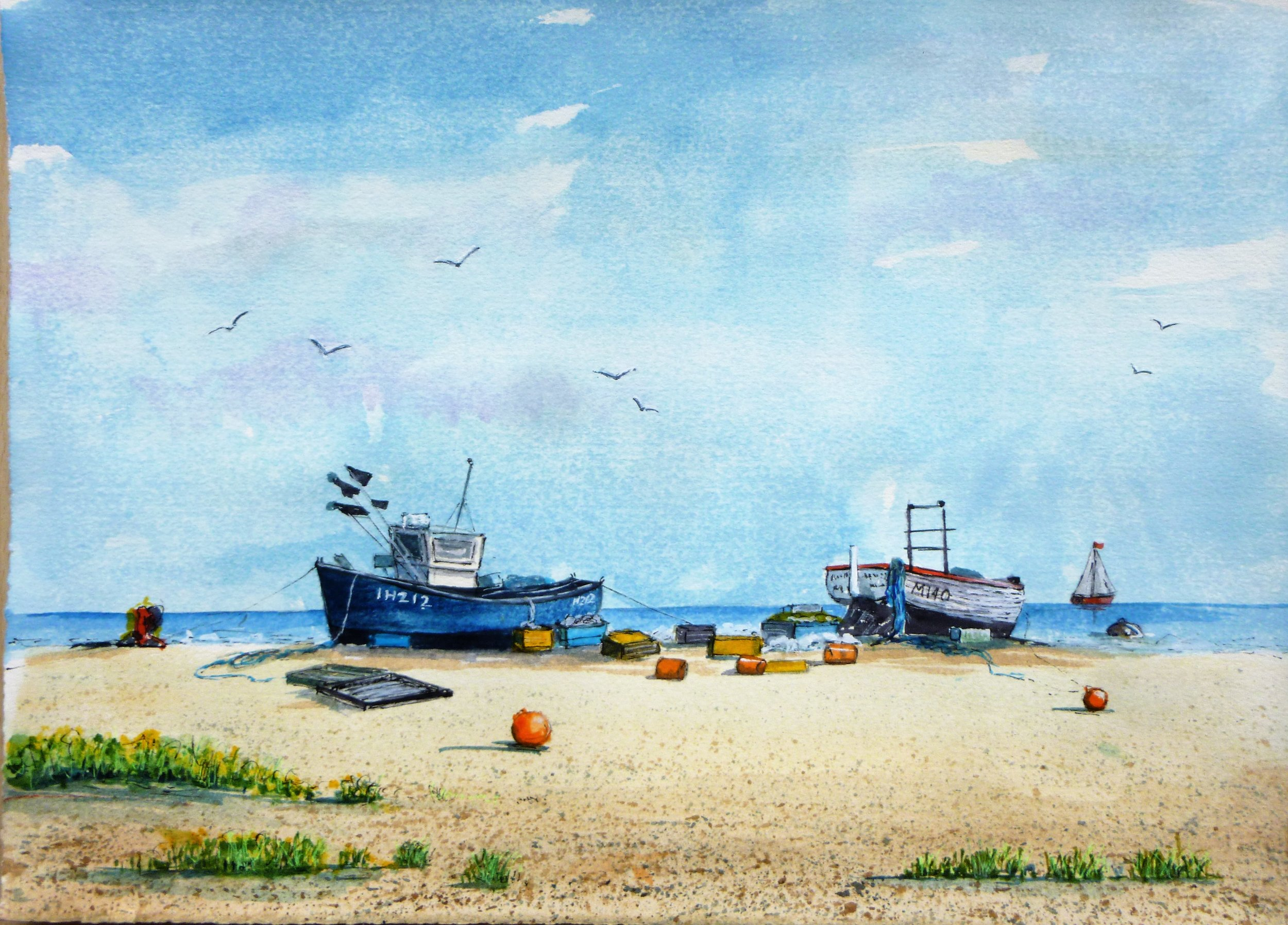 Early morning, Aldeborough Beach
