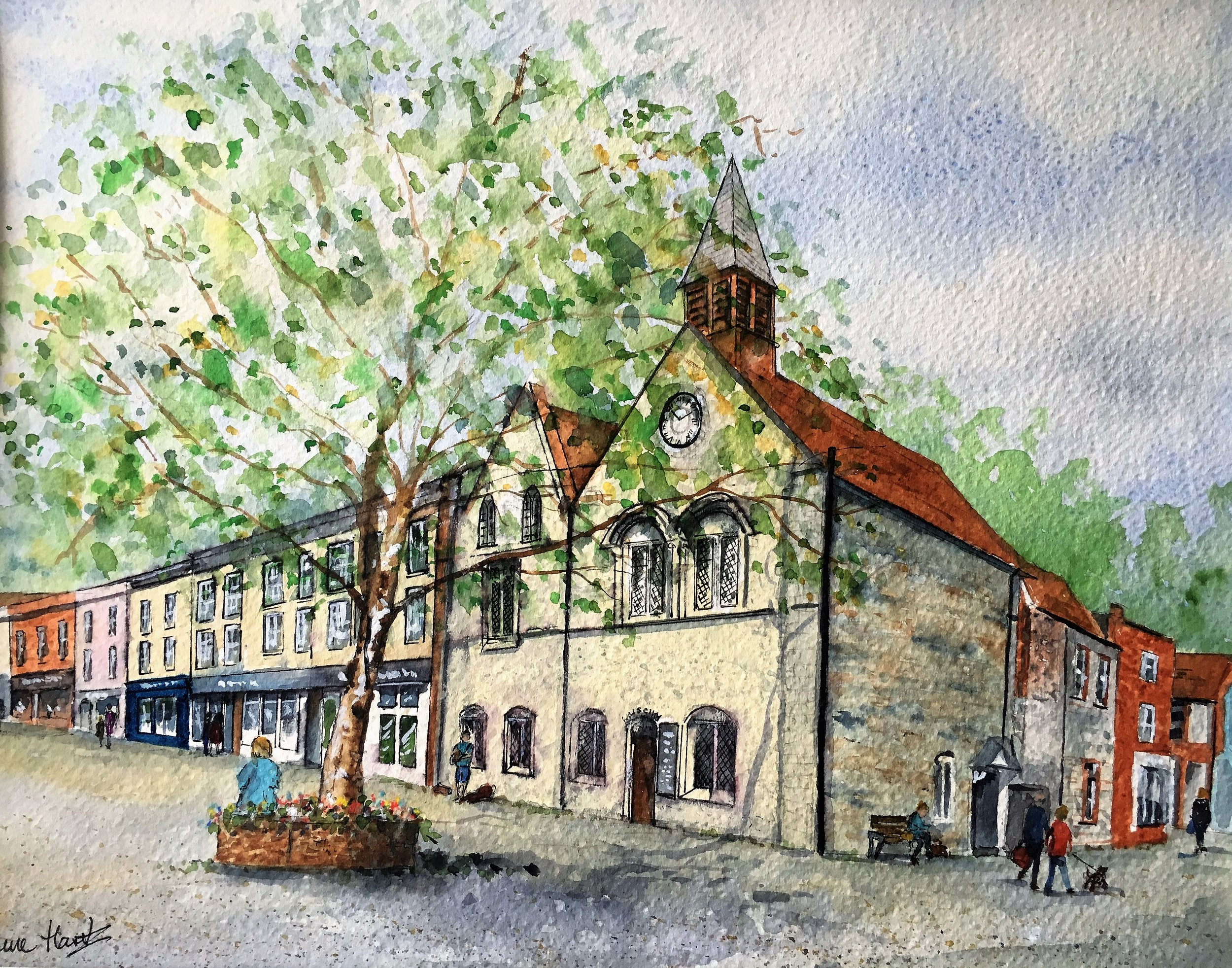 'Moyes Hall' Bury St Edmunds (watercolour)