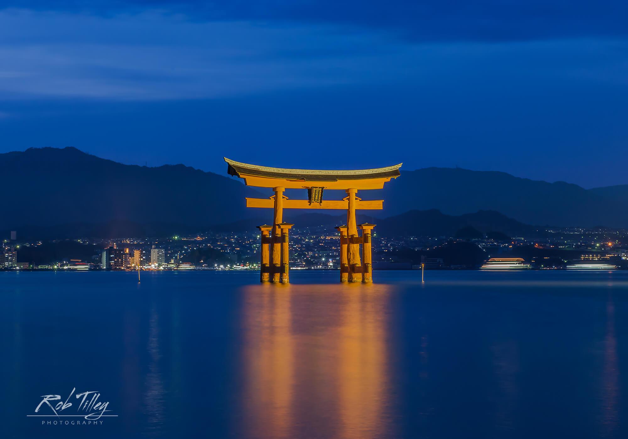 Twilight Miyajima Torii Gate I.jpg
