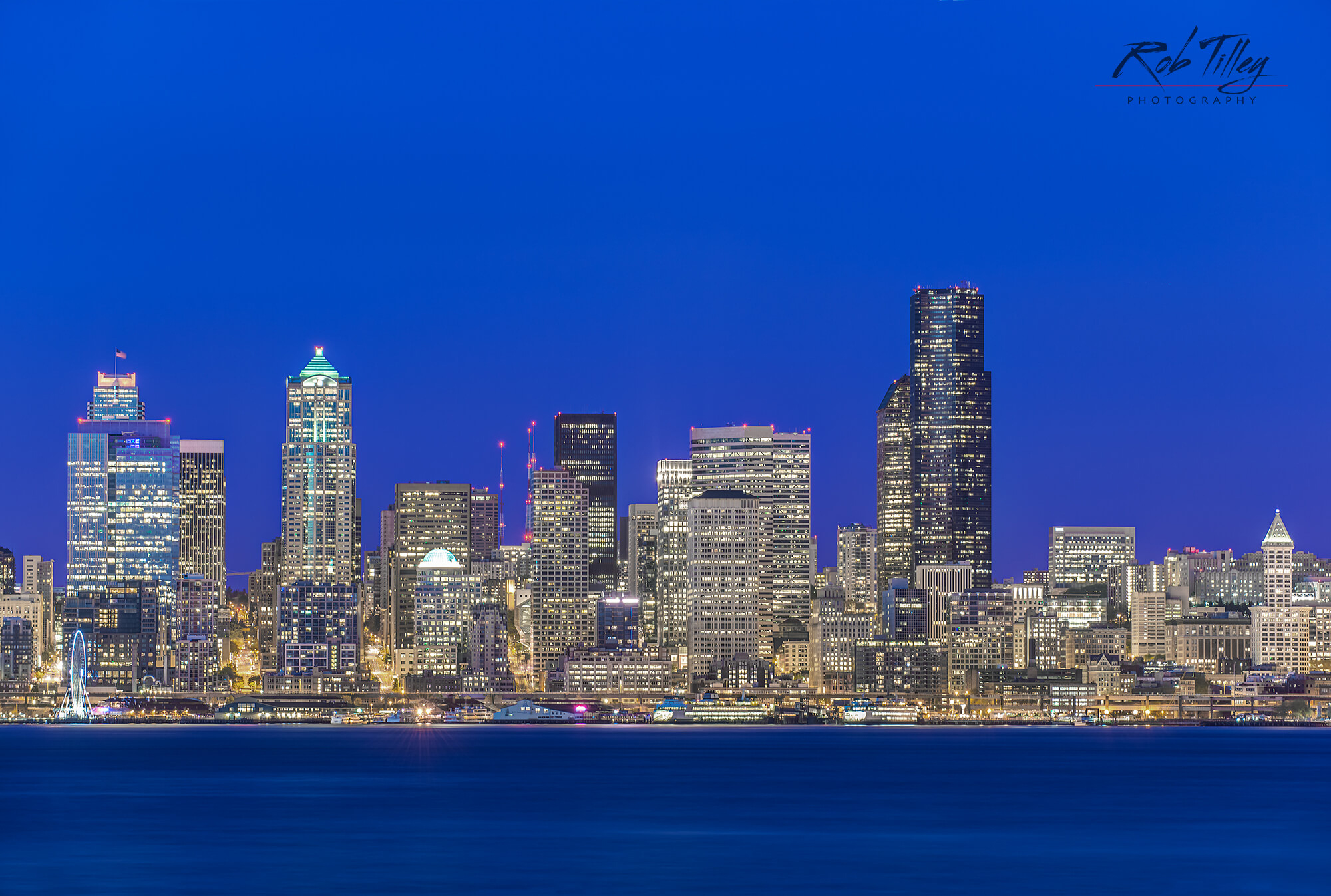Twilight Seattle Skyline