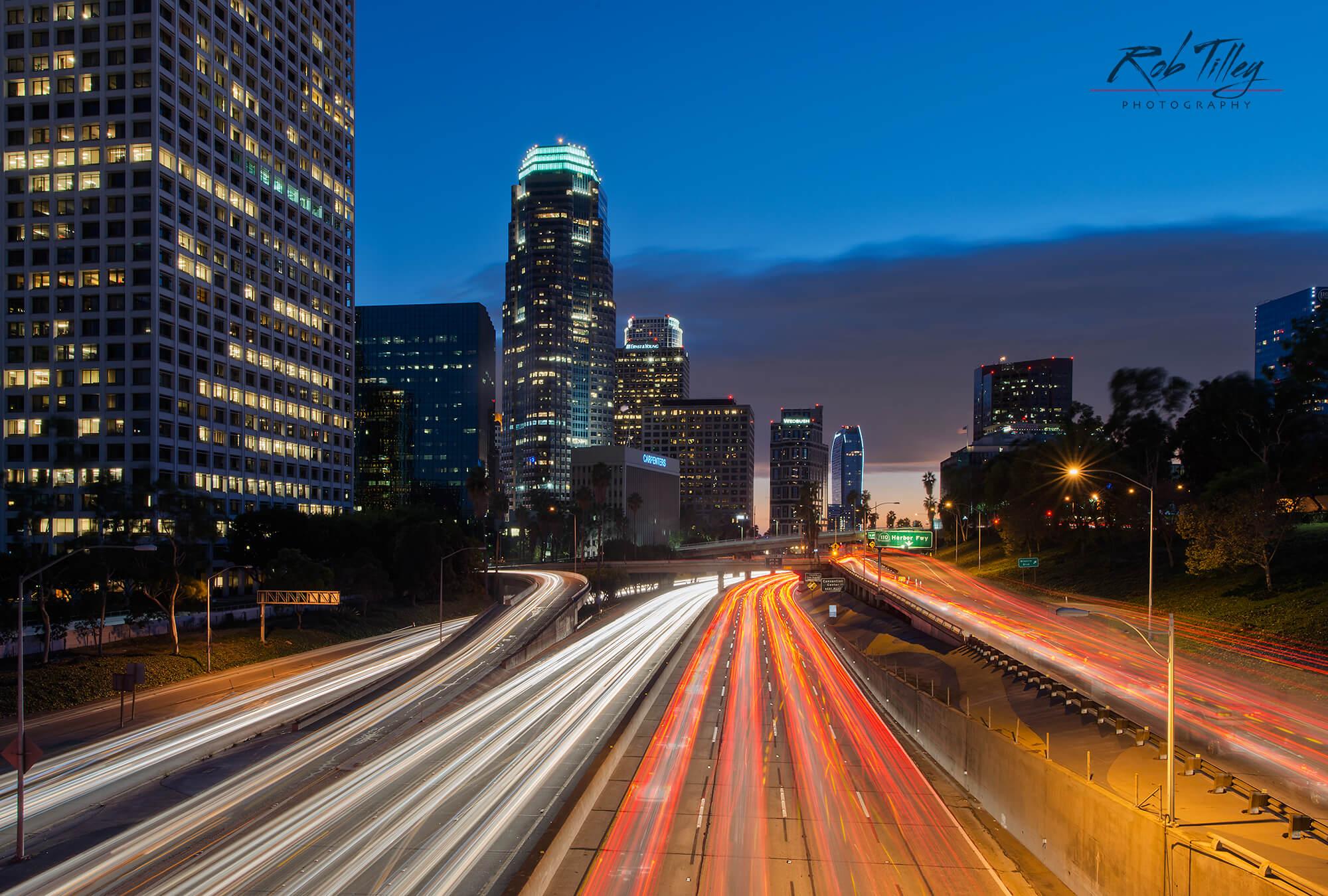 LA Freeway Sunset I