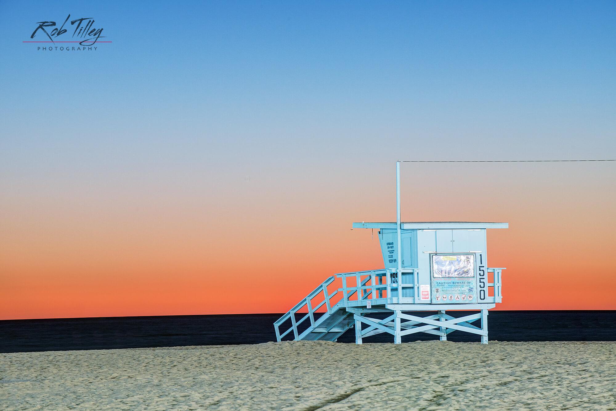 Santa Monica Beach Sunset I