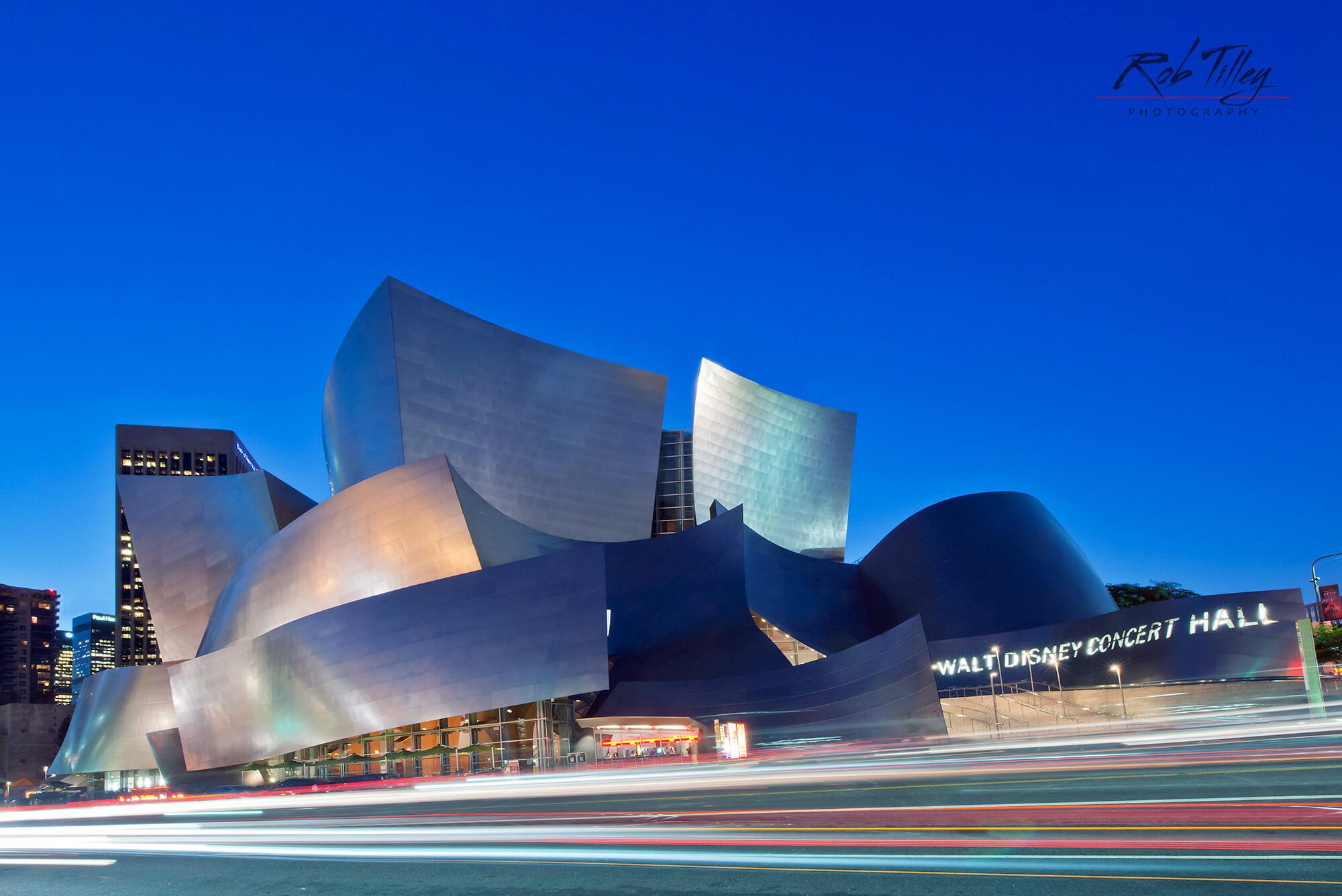 Walt Disney Concert Hall Sunset