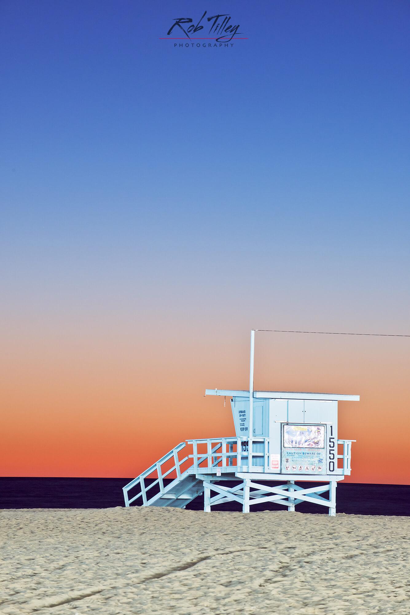 Santa Monica Beach Sunset II