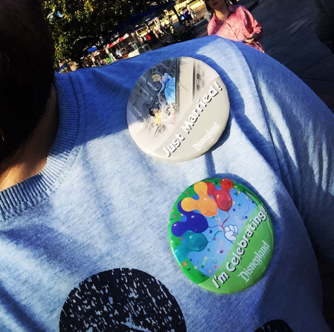 "Disney, recognising marriage equality, have since updated the Just Married badge to a genderless ""Happy Ever After"" design."
