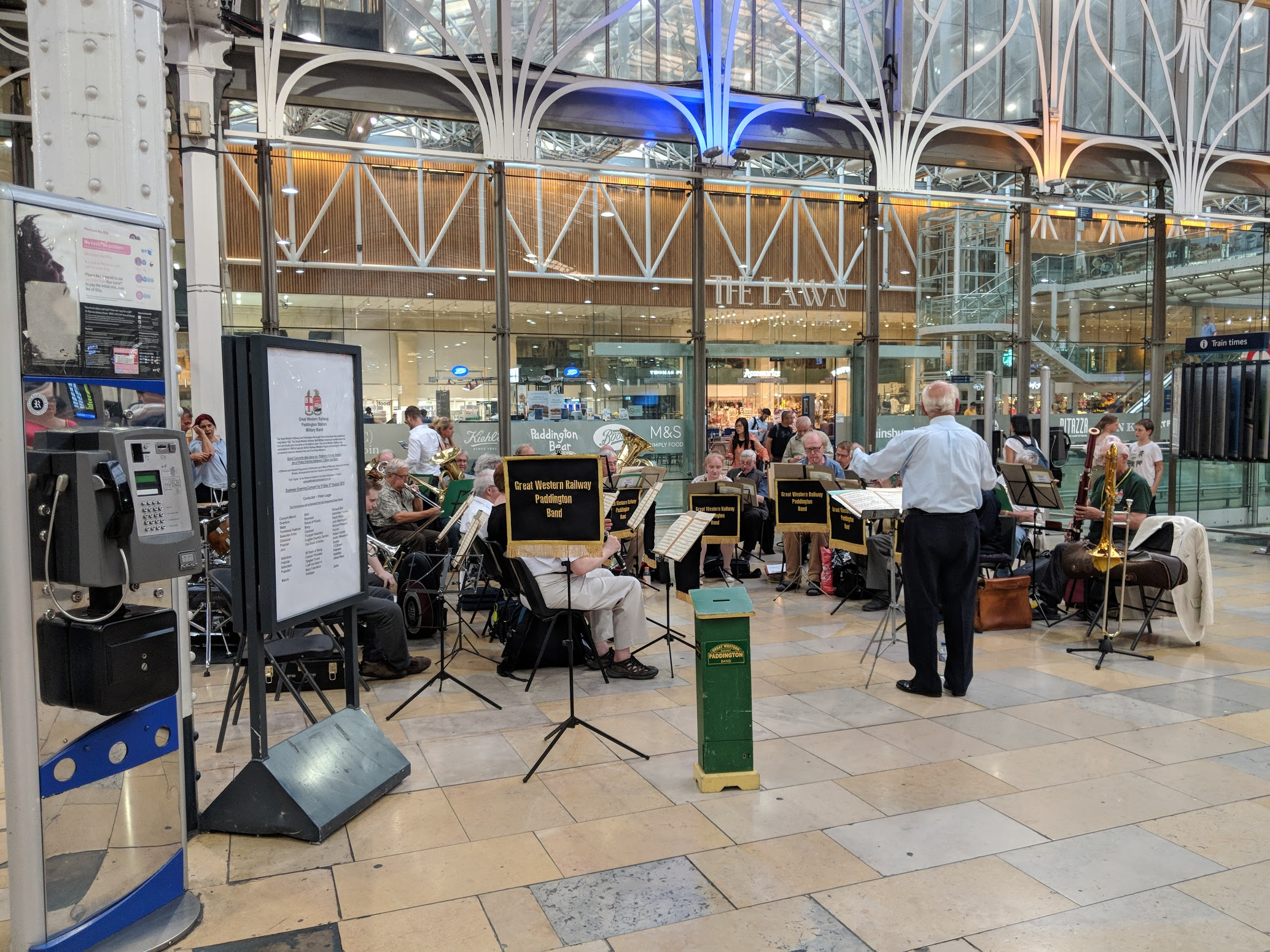 - A brass band playing live should start off all railway journeys