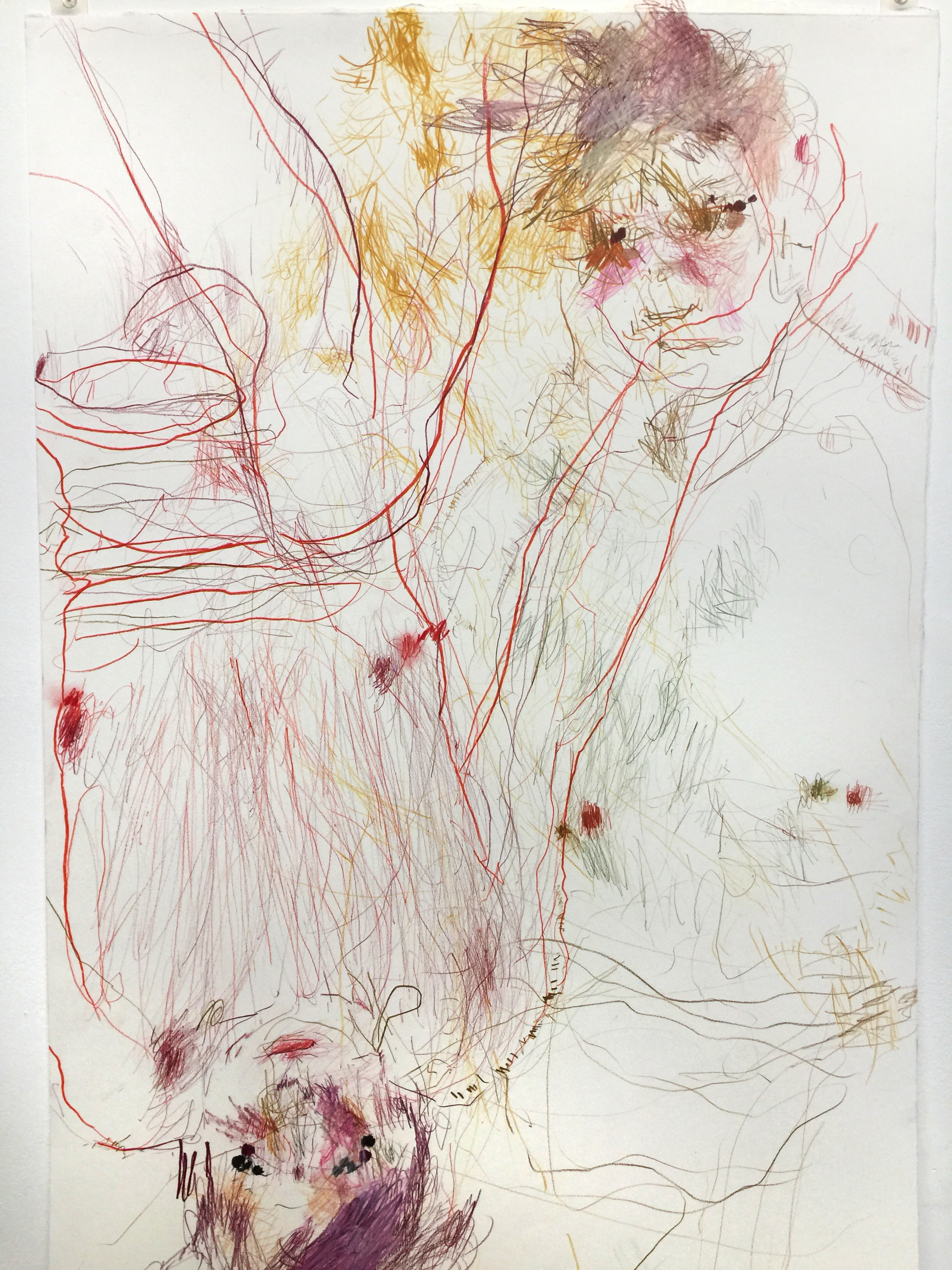 Michael Angove 'Untitled Figure 1' 2018 Pencil on Paper