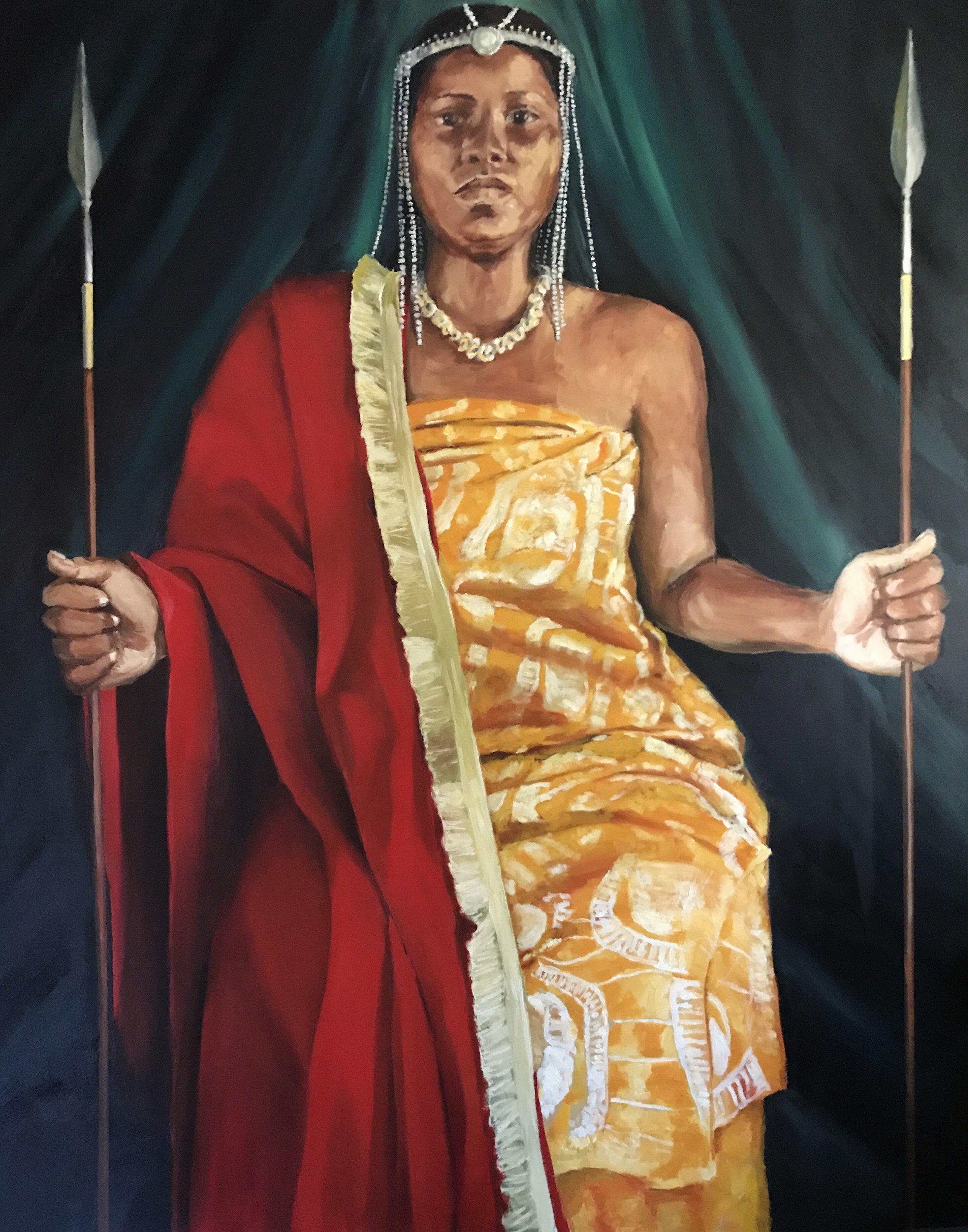 Raven as Queen Llinga of the Congo