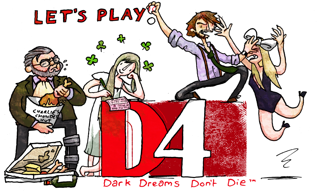 Thread banner for Let's Play D4: Dark Dreams Don't Die by Wottermelon, 2017