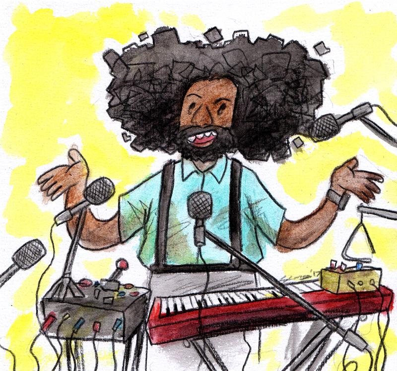 Fanart of comedian/musician Reggie Watts, 2017