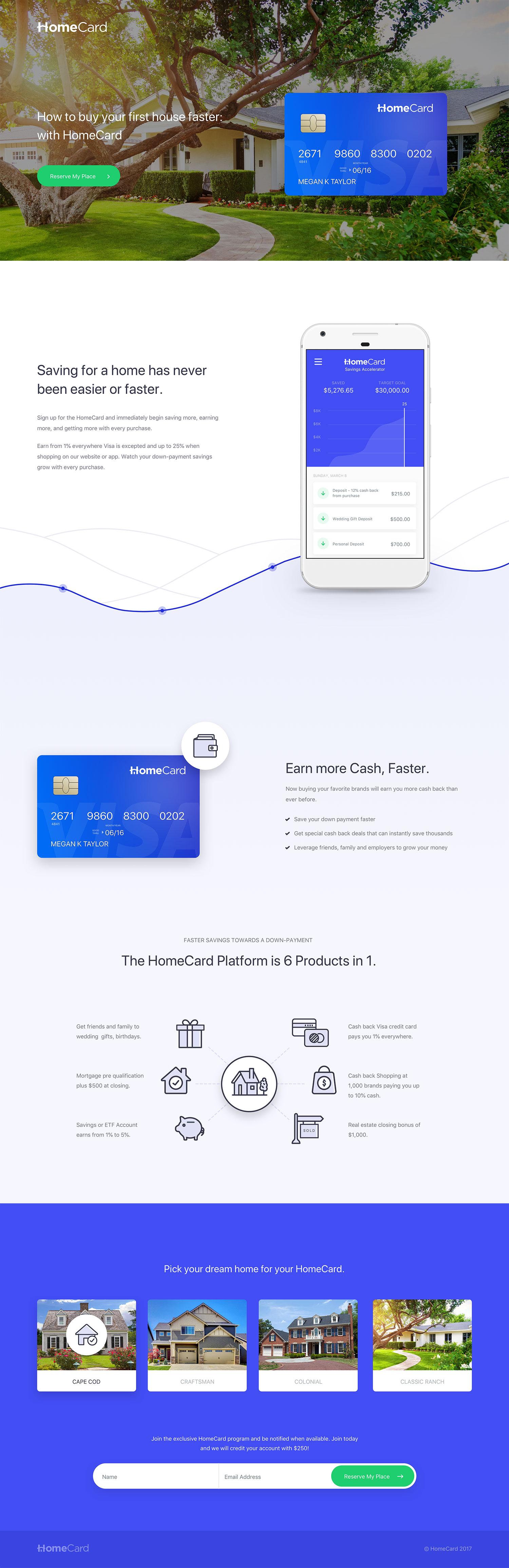 The Home Card Squarespace Website Design