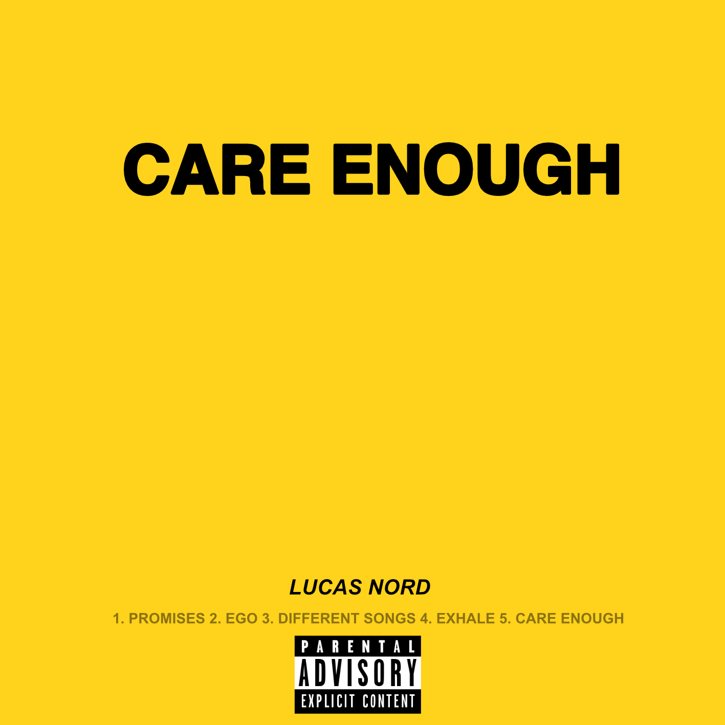'Care Enough'Out Now! - Lucas Nord's debut single off of his forthcoming EP, 'EGO' (June 1st release) is out now! Click below to Stream / Purchase!
