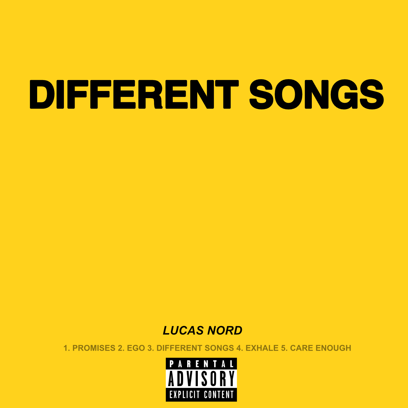 'Different Songs' Out Now! - Check out Lucas Nord's second single release off of his forthcoming EP, 'EGO (June 1st release)! Click below to Stream / Purchase!