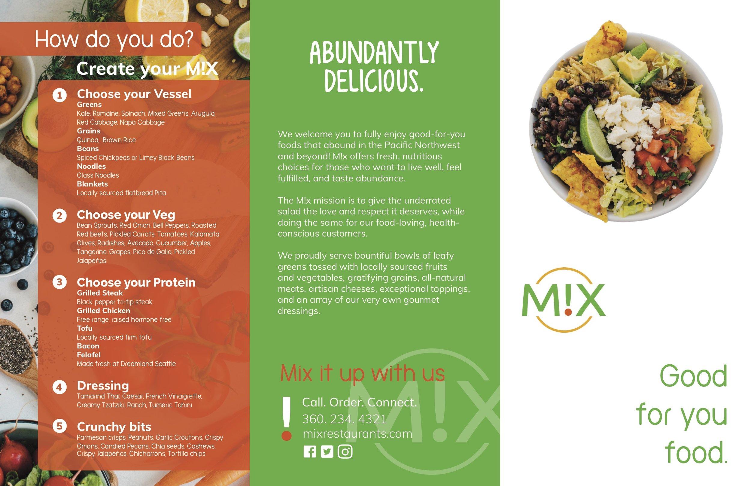 *Back of the M!X menu