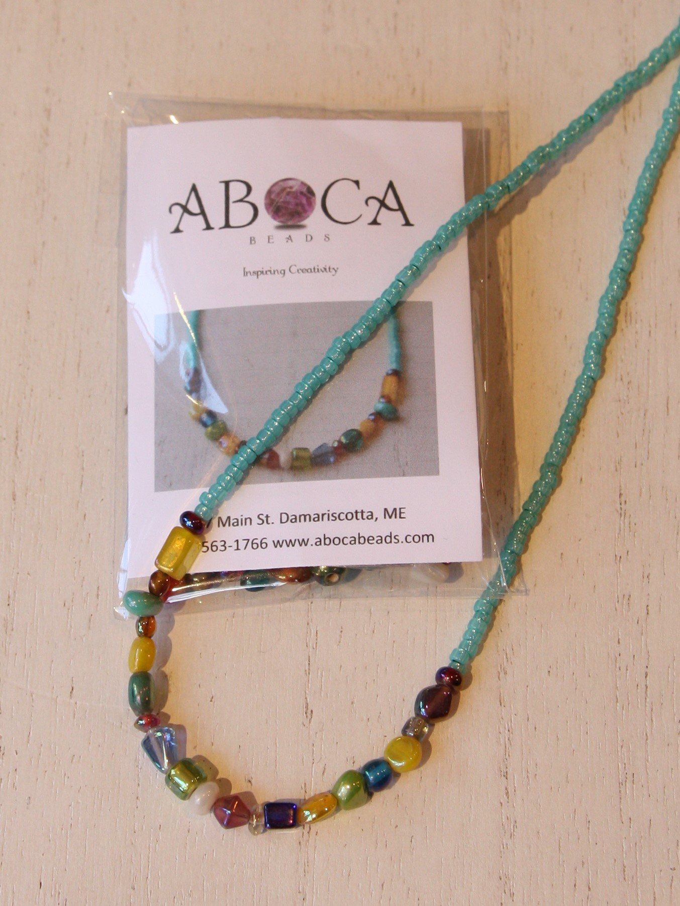 Glass and Seed Bead Necklace