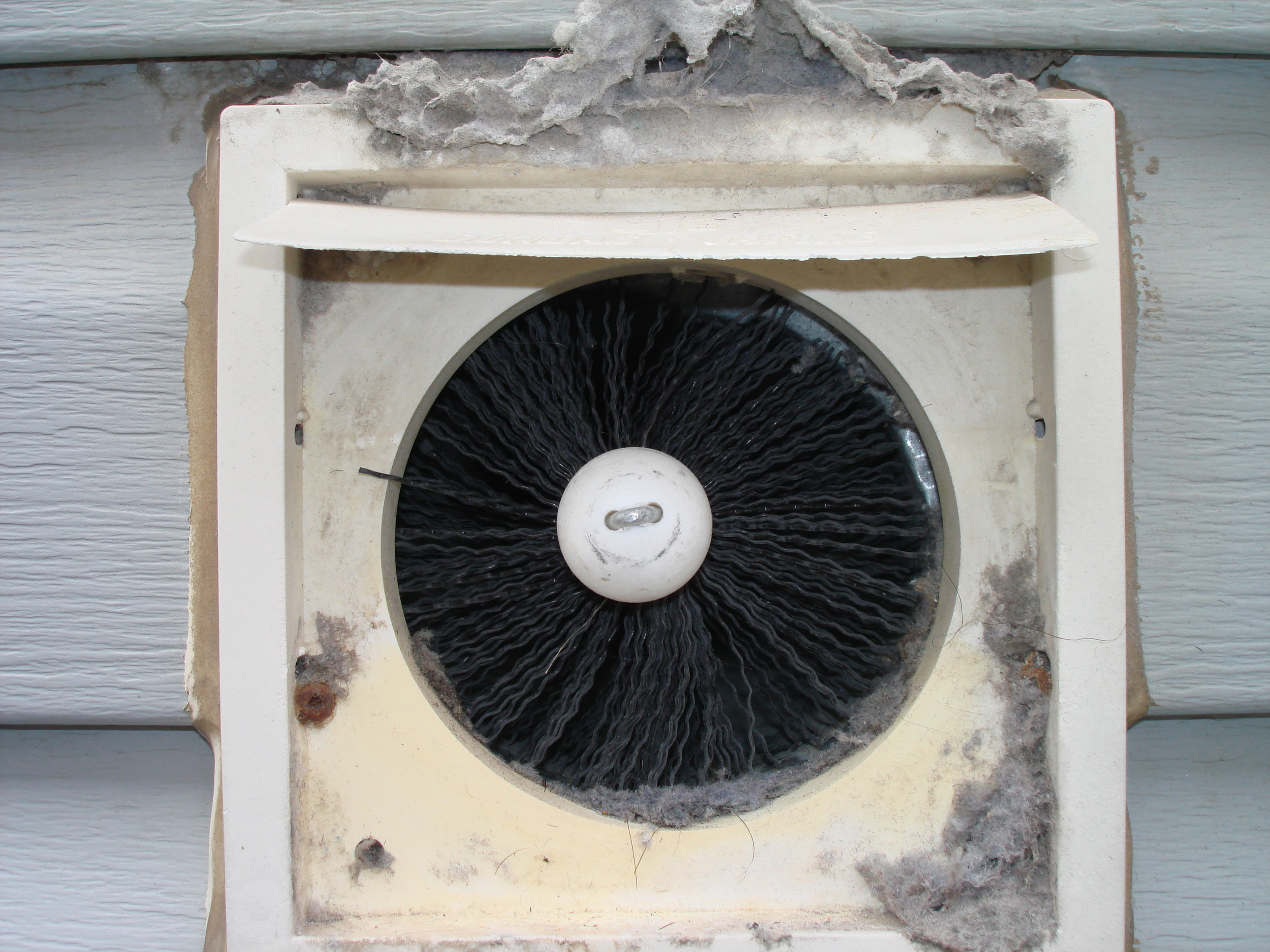 The rotating brush travels the complete length of the vent until it reaches the termination point outside your house.