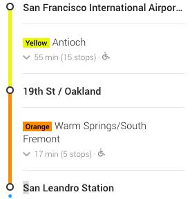 SFO to San Leandro Station