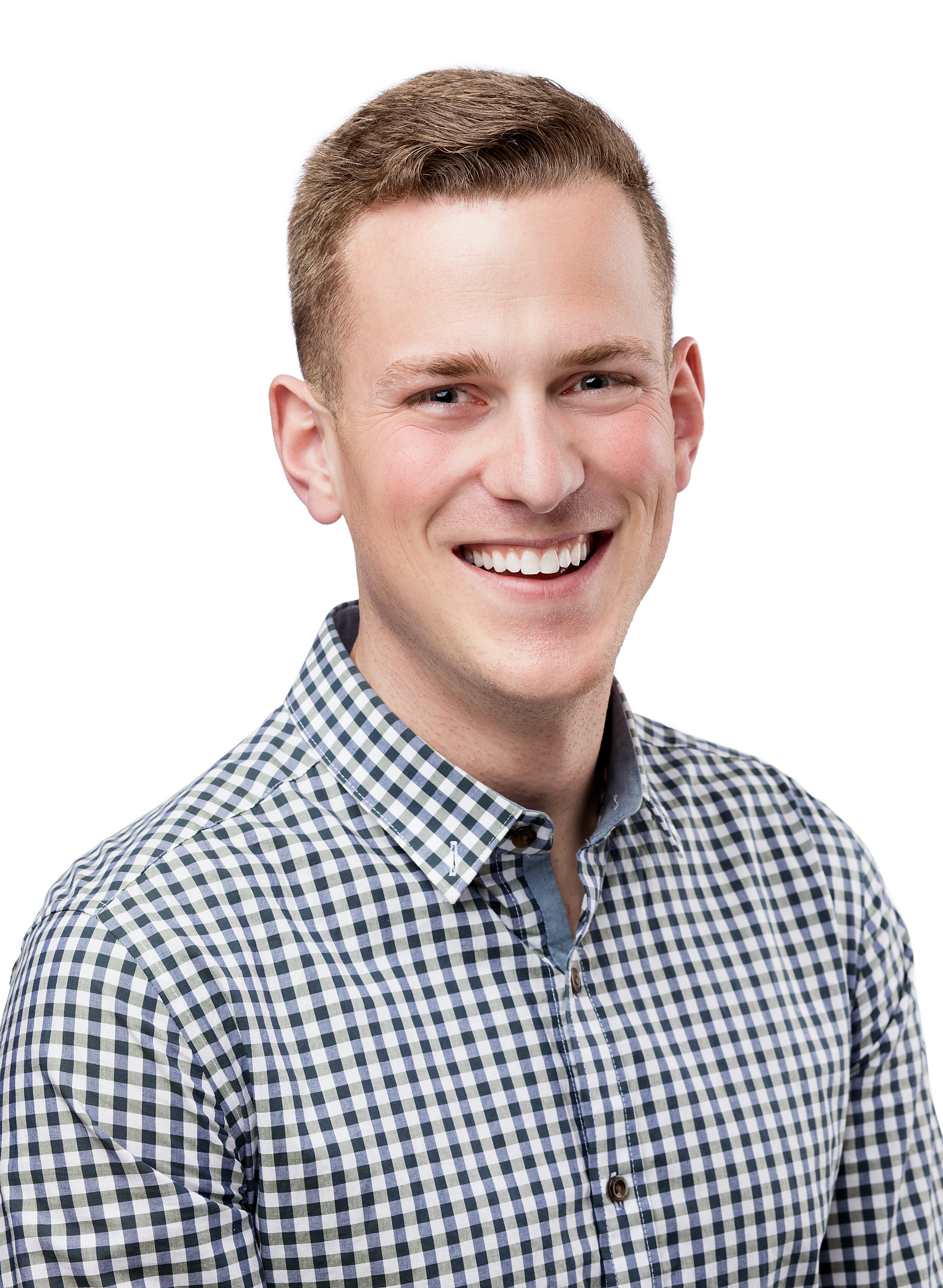 Male Everett marysville headshot on white background studio business linkedin