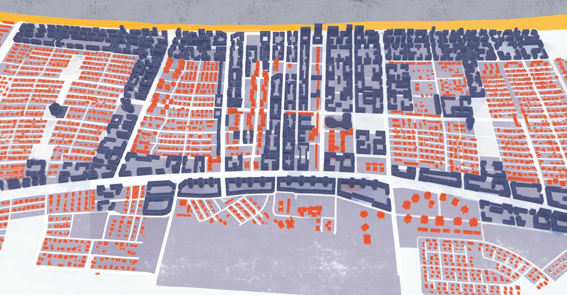 A CITY DEVELOPING TO THE SEA   _  Urban planning, Kiryat Yam, Haifa region 2014