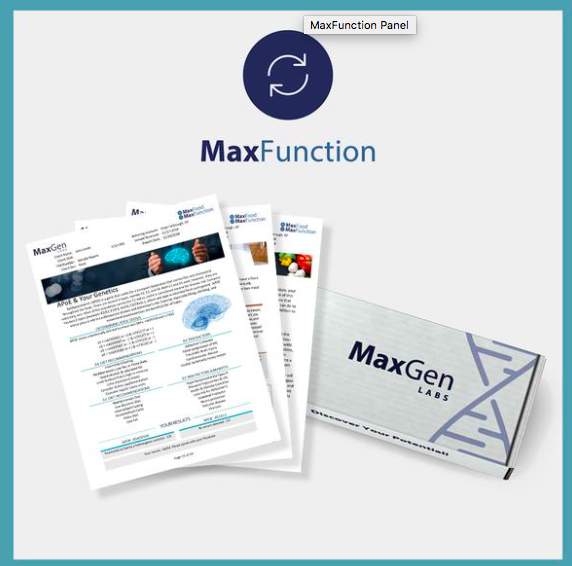 MaxGen Labs Max Function At-Home Metabolic Pathway Test - The MaxFunction Panel tests for 80 different genetic variations that influence every aspect of your health. Using a simple and non-invasive cheek swab, this test contains MTHFR, COMT, CBS, MAOA, and many more methylation SNPs that are good to be aware of when TTC, pregnant, or really just living life! Buy it here