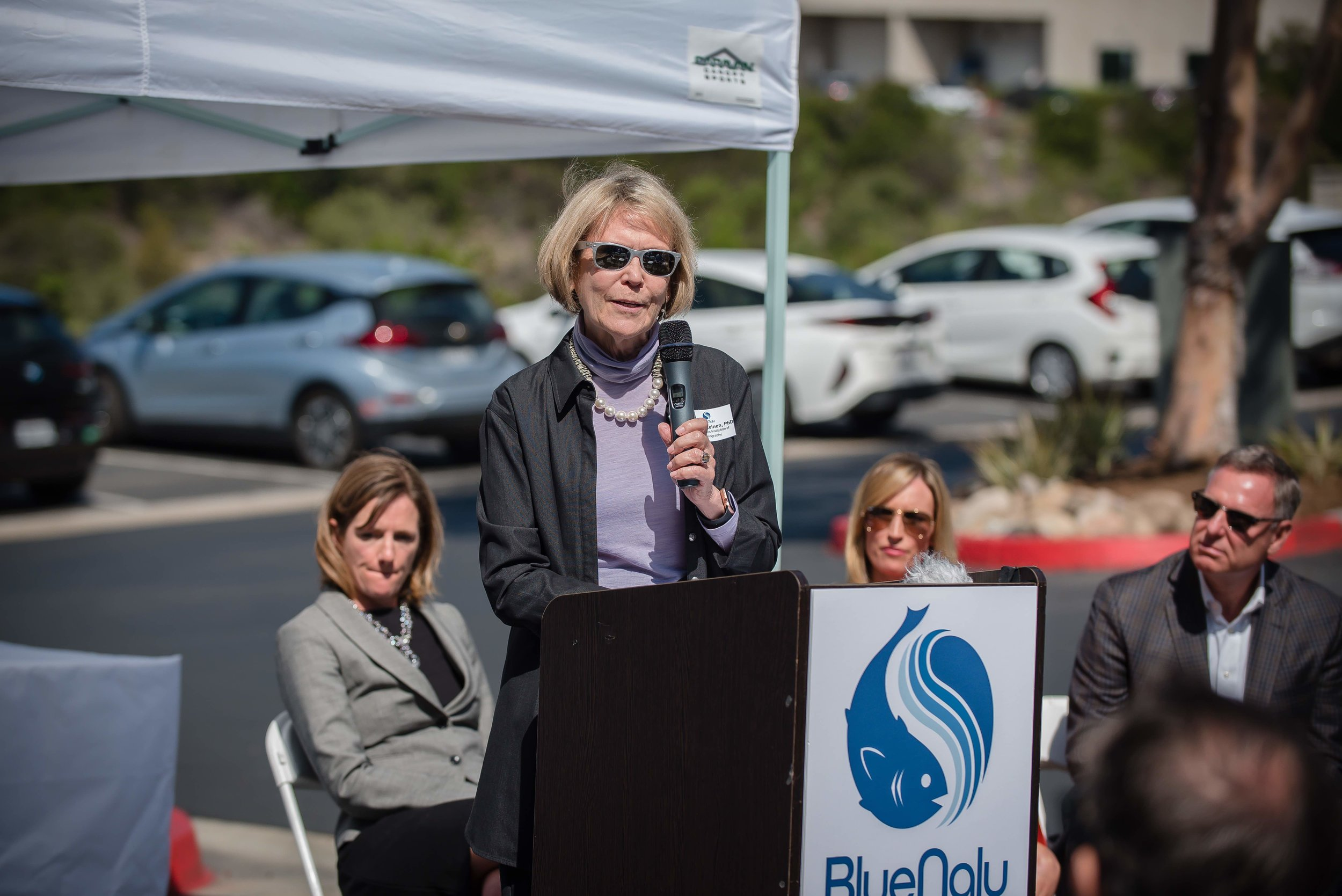 Margaret Leinen, PhD, Director, UC San Diego Scripps Institution of Oceanography at the BlueNalu Ribbon Cutting Ceremony, Earth Day, April 22, 2019.