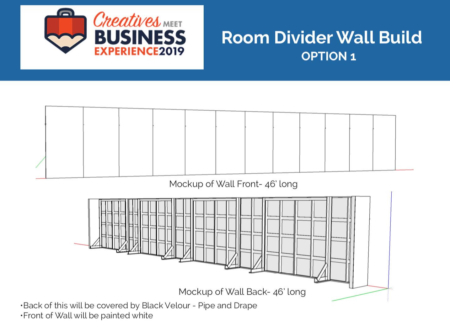 Sketchup Model of Room Divider