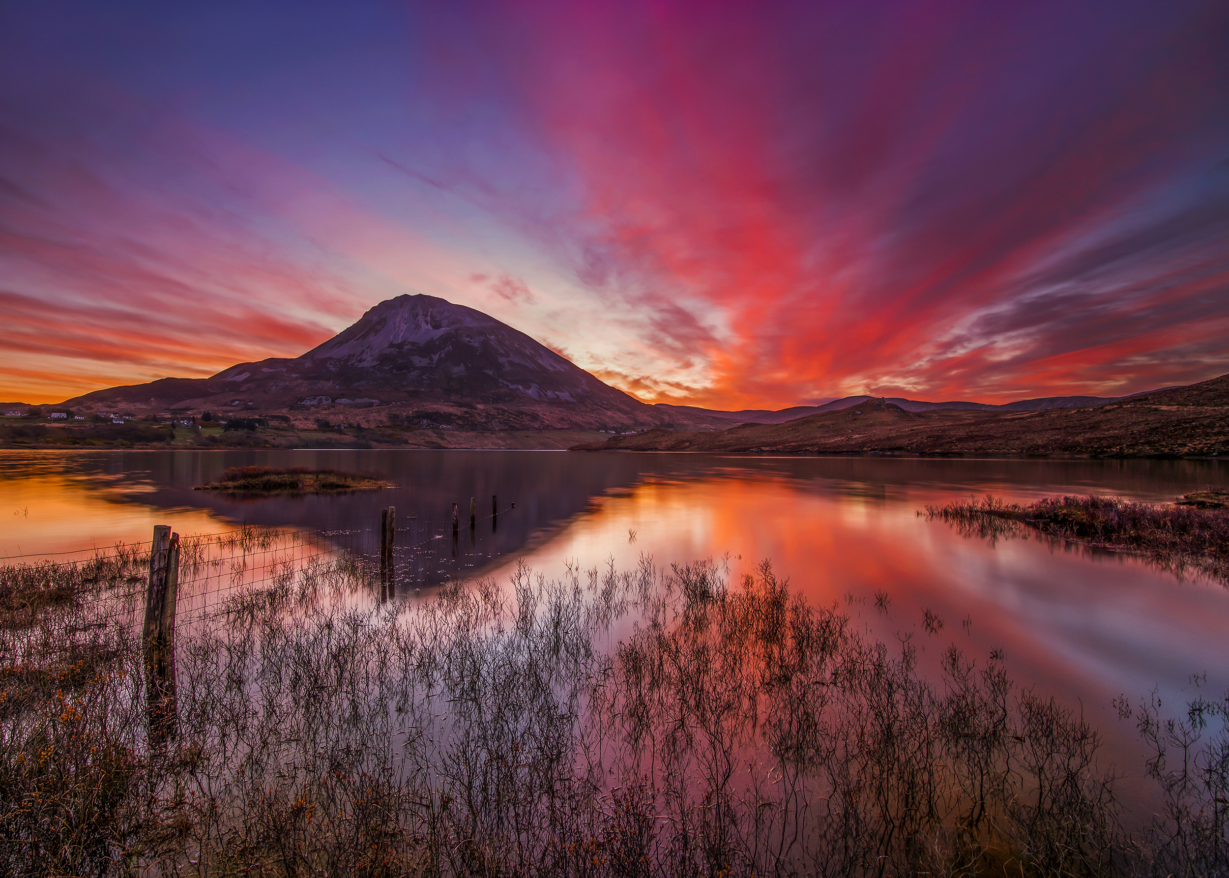 Under th Blood Red Sky, Mount Errigal, Donegal