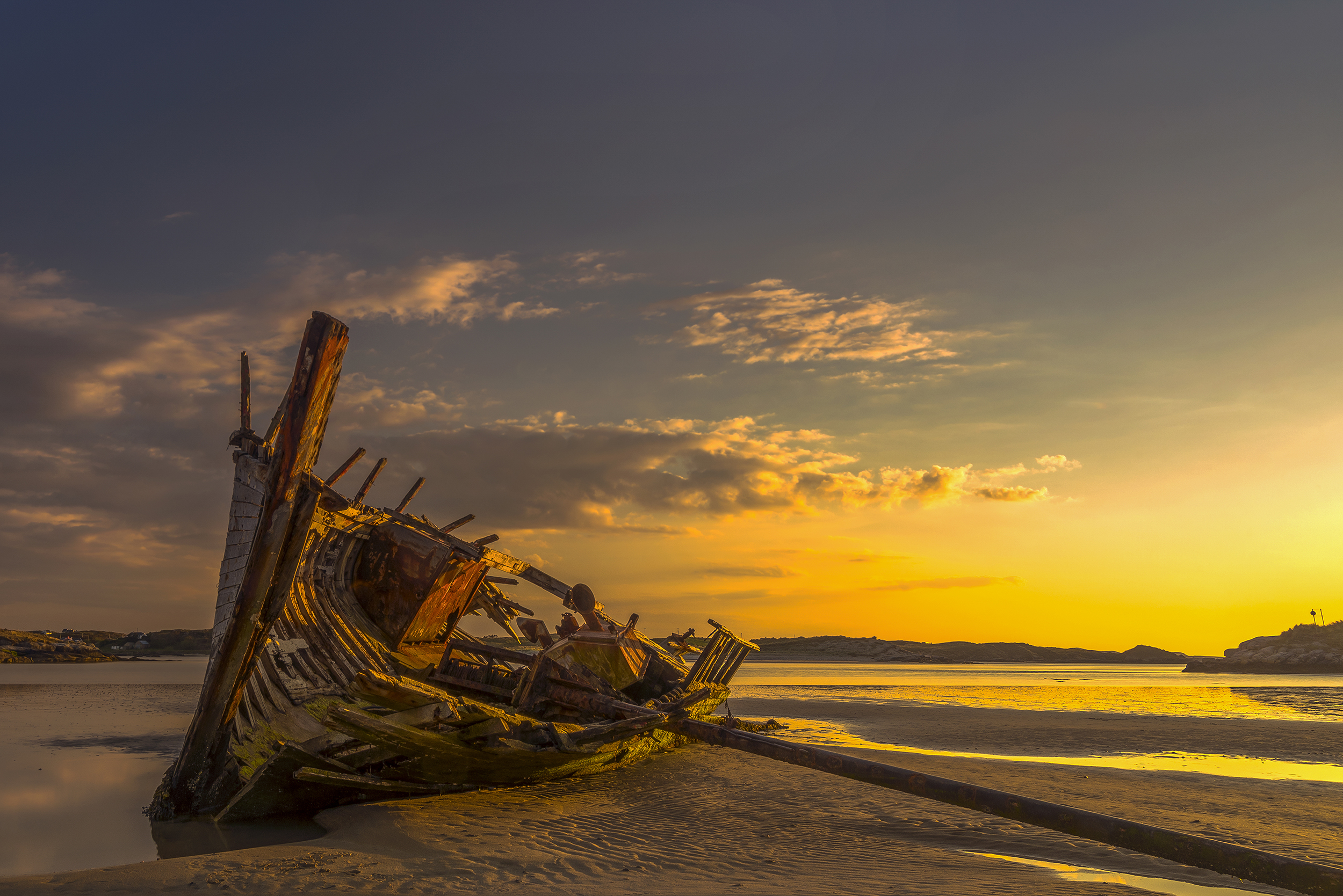 Bad Eddie Shipwreck, Maghera Beach, Donegal