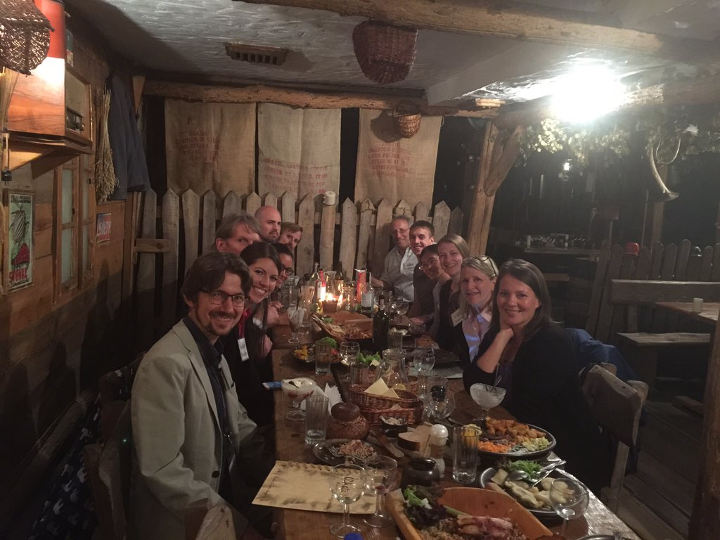 Enjoying authentic Polish cuisine at the microbiome networking dinner.
