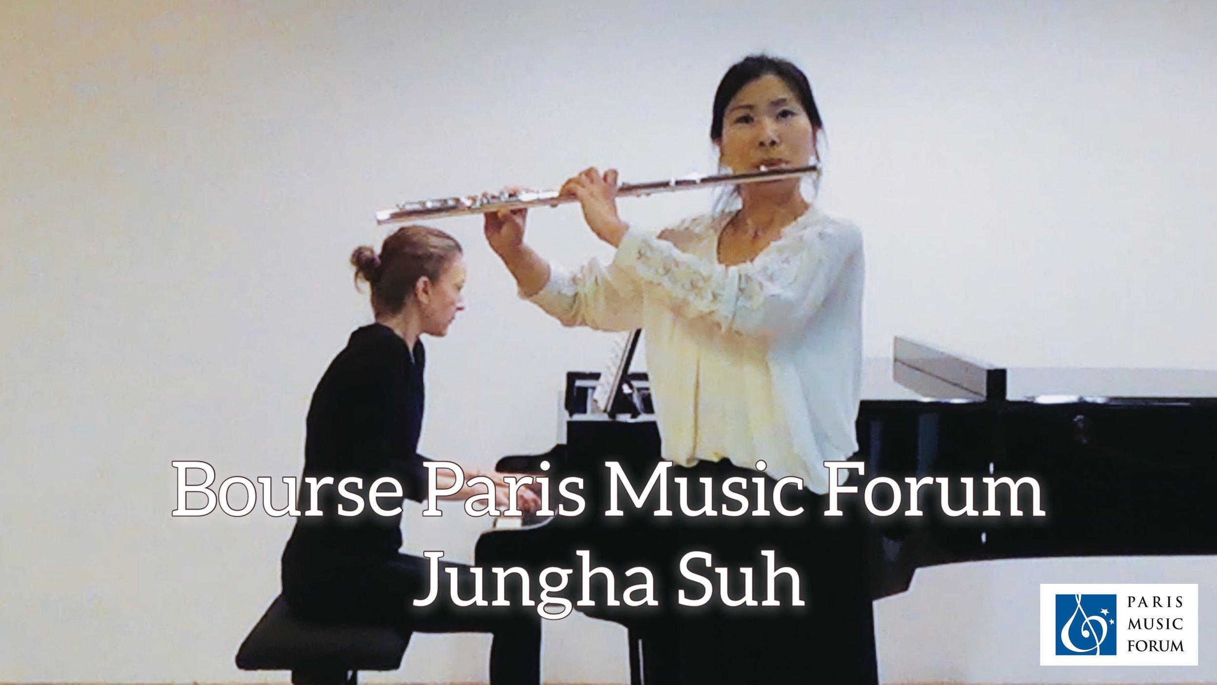 Bourse Paris Music Forum   Jungha S U H   Diplôme avec une Bourse* sous forme d'avoir-remboursement des frais d'hôtel dans la limite de 200 euros (voir ci-dessous pour les détails de la récompense)