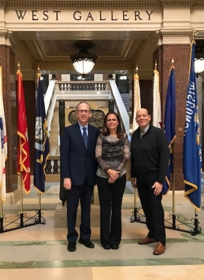(L-R): WPSA Lobbyist Michael Blumenfeld, Board Member Darci Knapp, President-Elect Todd Costello