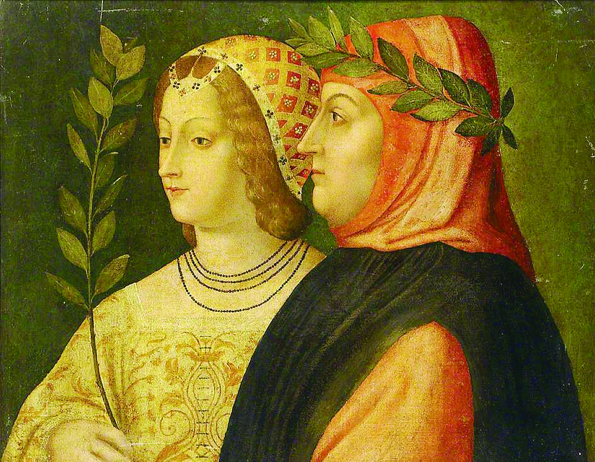 Petrarca e Laura De Noves, Scuola veneziana, c. 1510 (The Ashmolean Museum of Art and Archaelogy)
