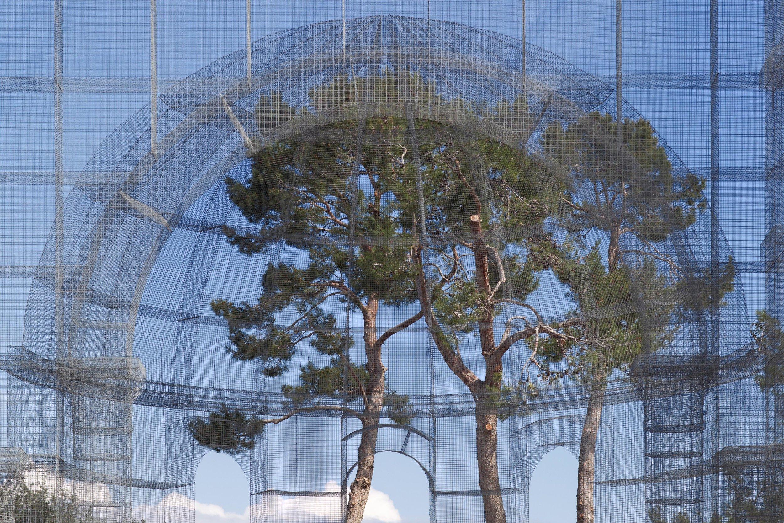 La struttura creata da Edoardo Tresoldi, Immagine di BlindEyeFactory