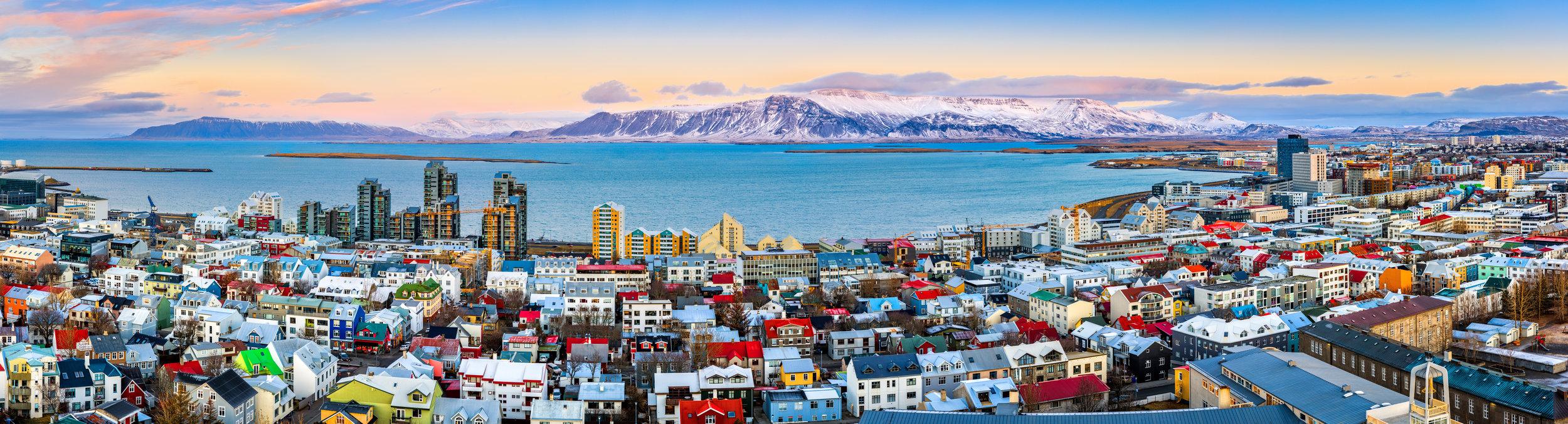 Reykjavík, vista panoramica