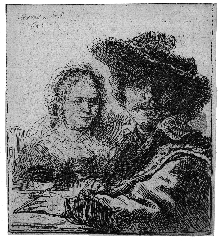 Rembrandt, Autoritratto con Saskia