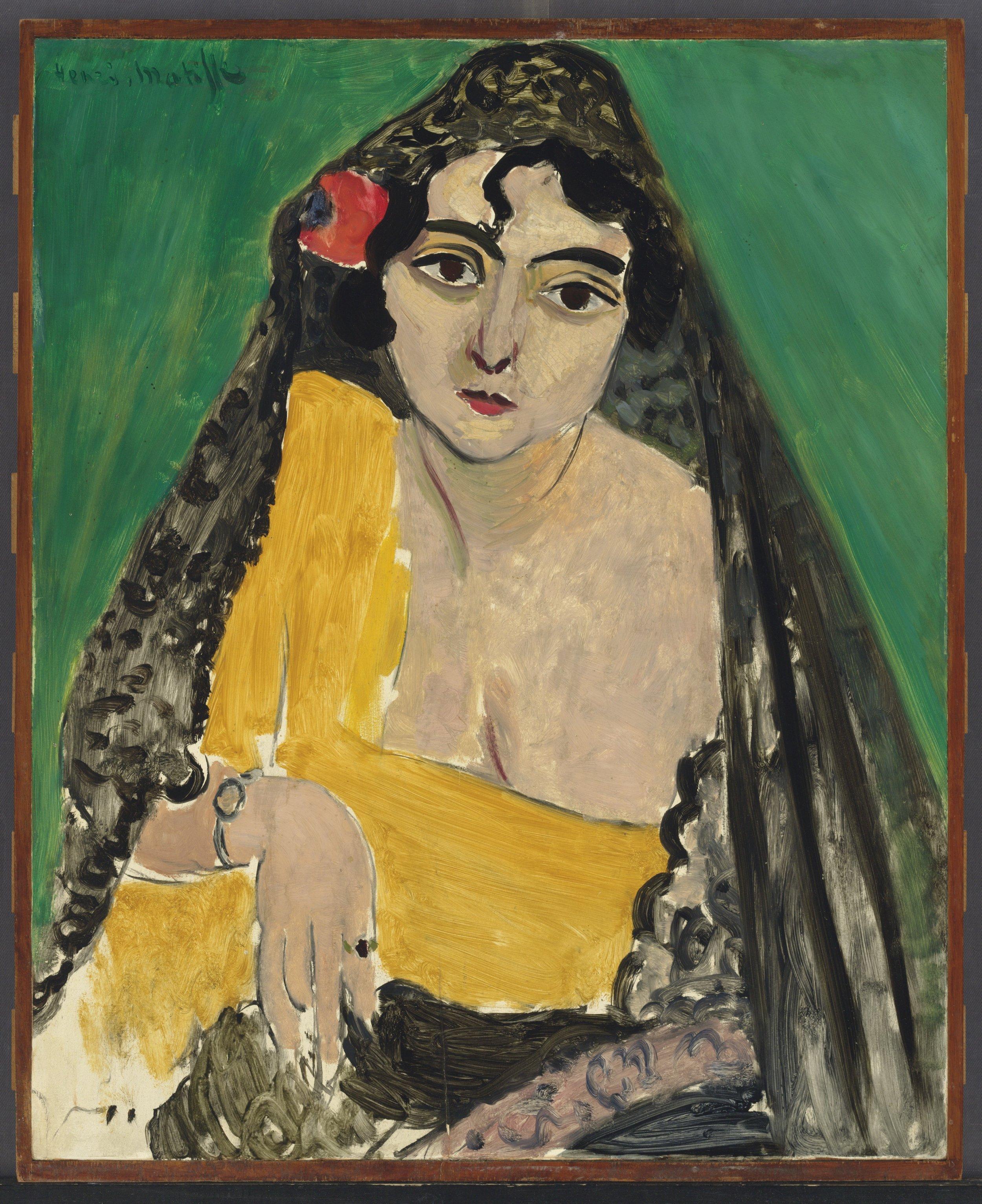 Henri Matisse, Femme espagnole (1917), mostra  Retratos: esencia y expresión
