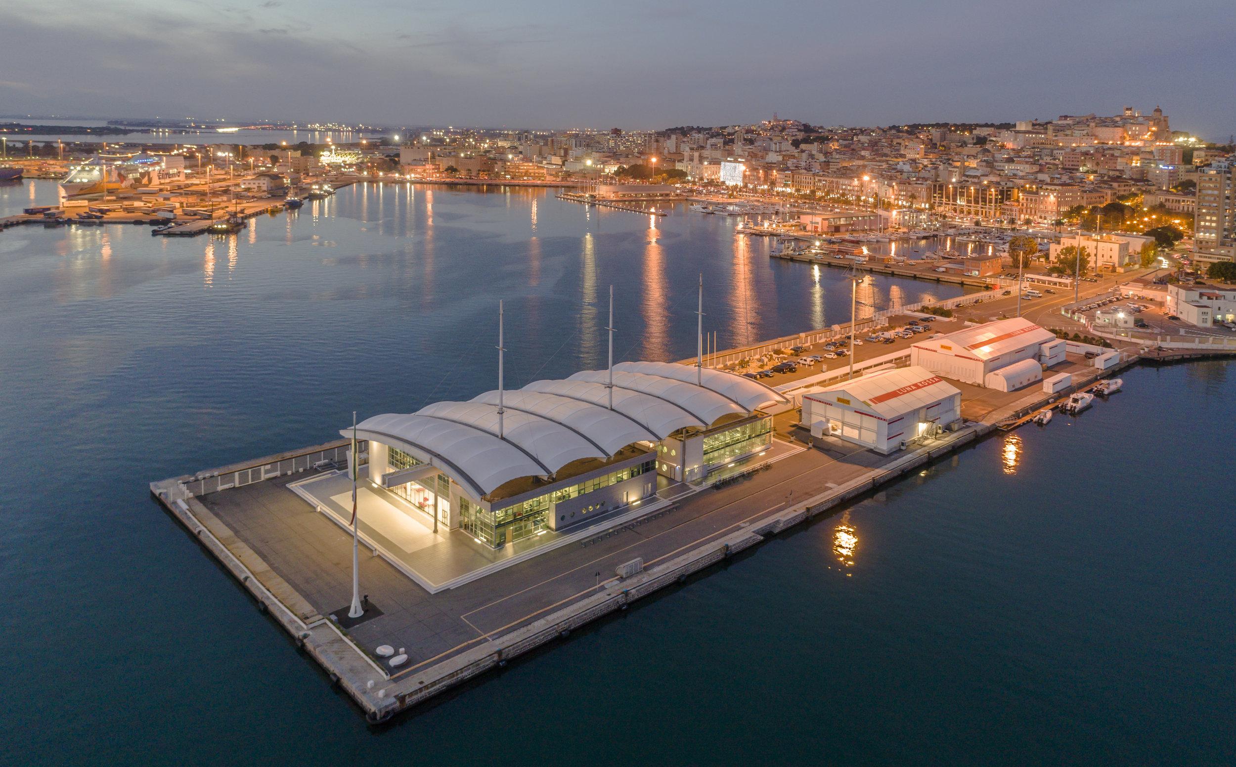La base di Luna Rossa Challenge a Cagliari