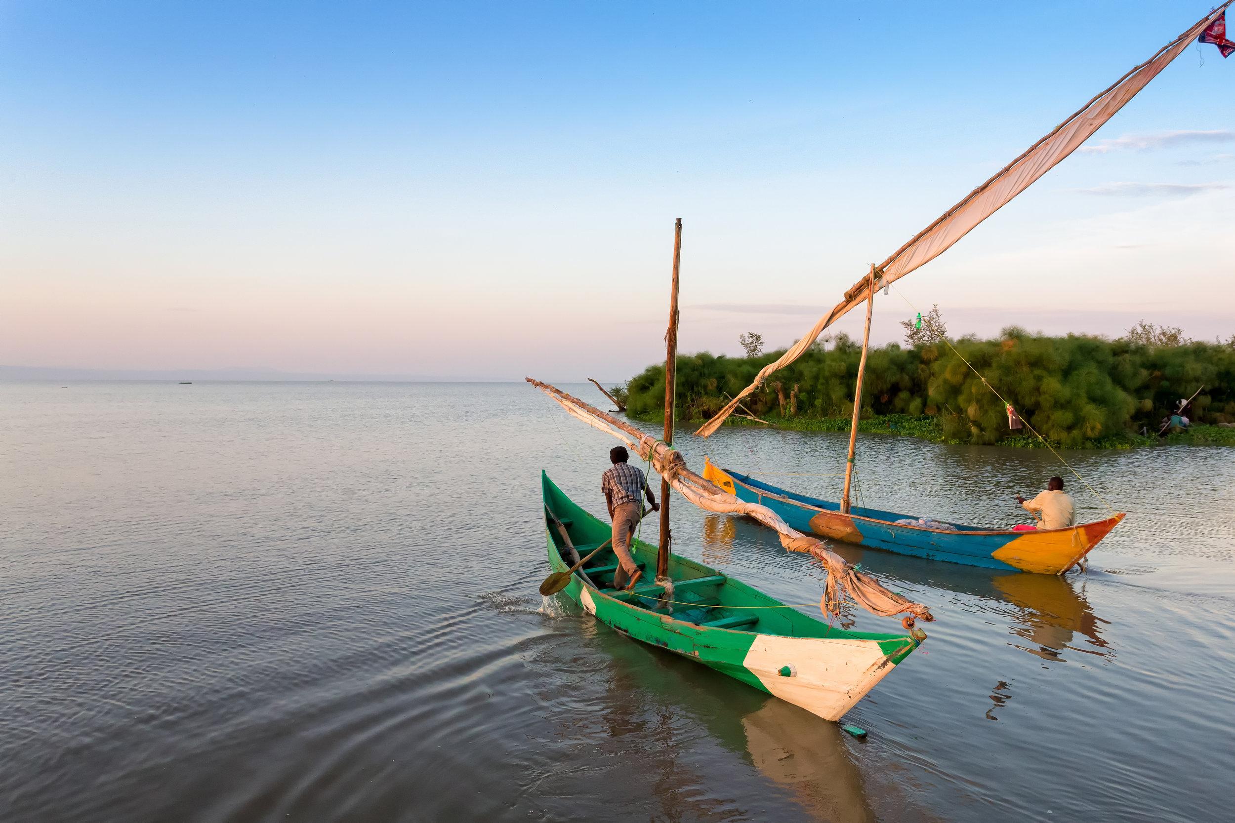 Pescatori sul Lago Vittoria