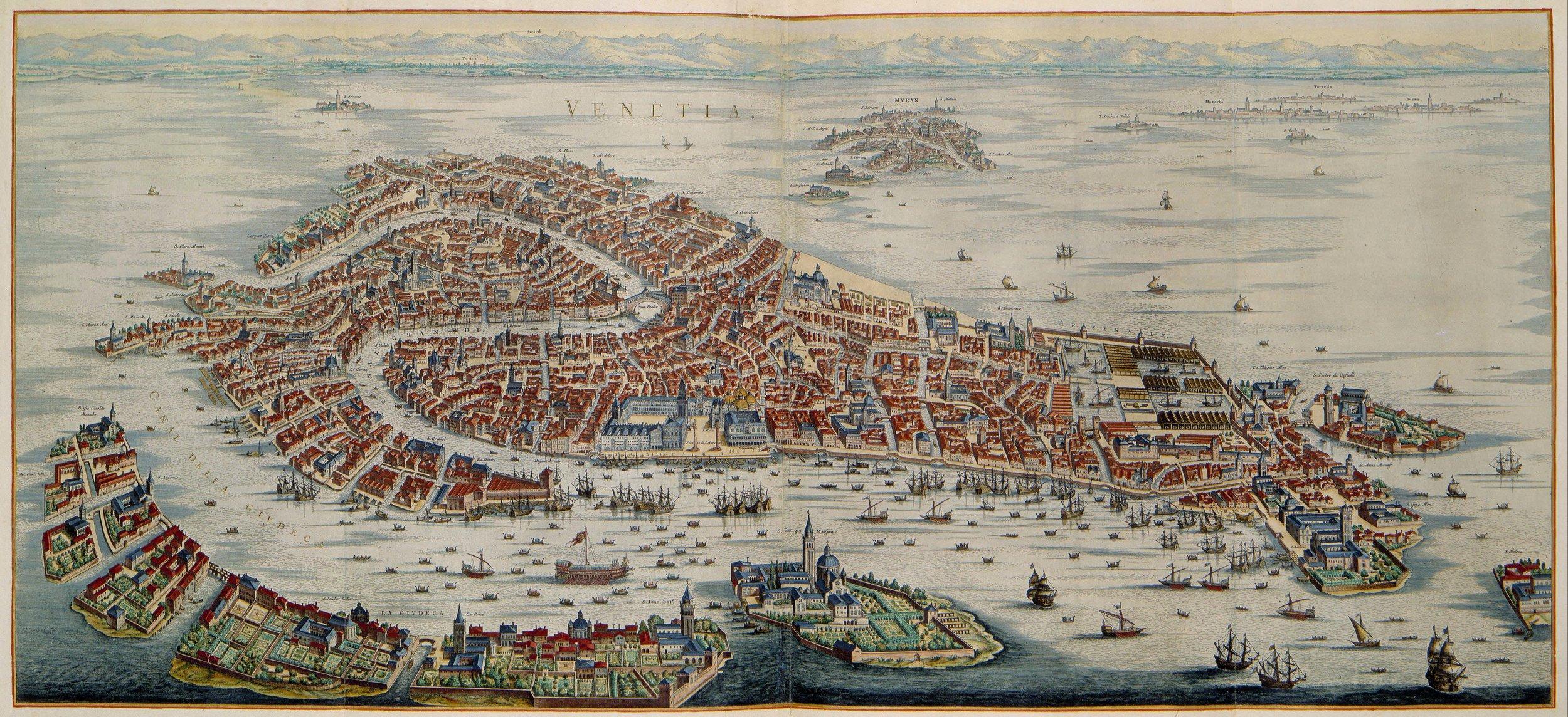 Mappa di Venezia di Joan Blaeu (XVII secolo)