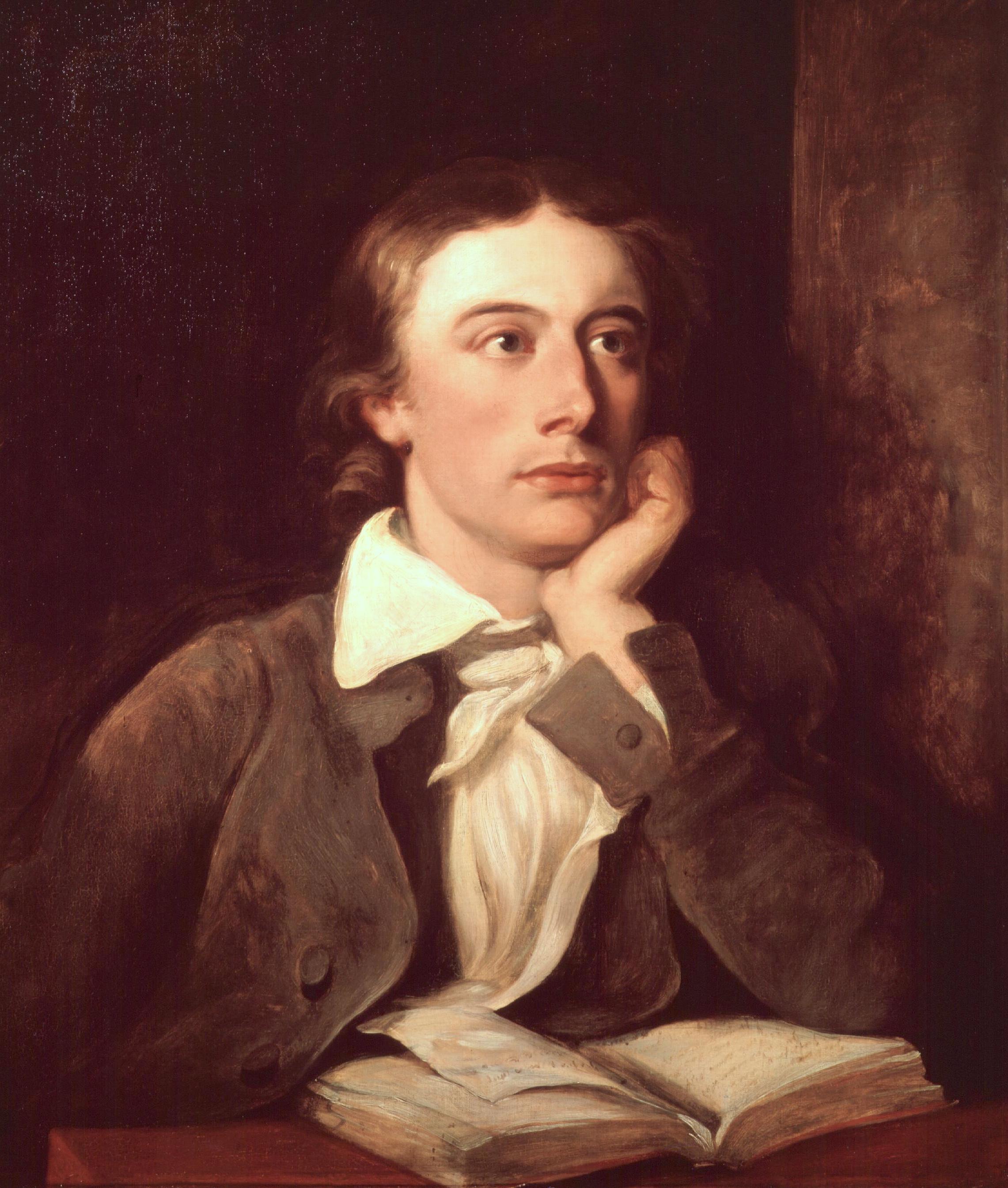 John Keats in un ritratto postumo di William Hilton (ca 1822)