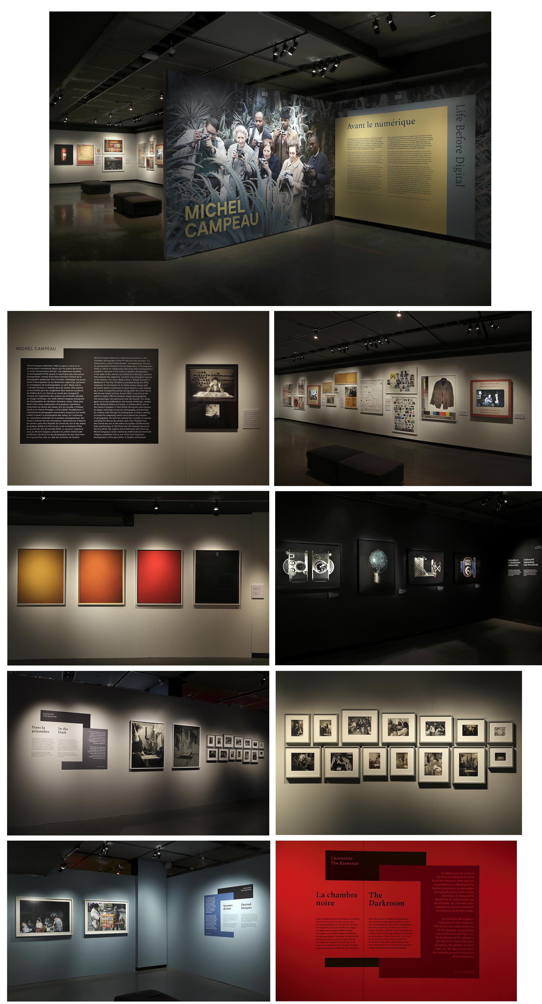 Vues de l'exposition  Michel Campeau. Avant le numérique , au Musée McCord, de 16 février au 6 mai 2018, © Marilyn Aitken, Musée McCord