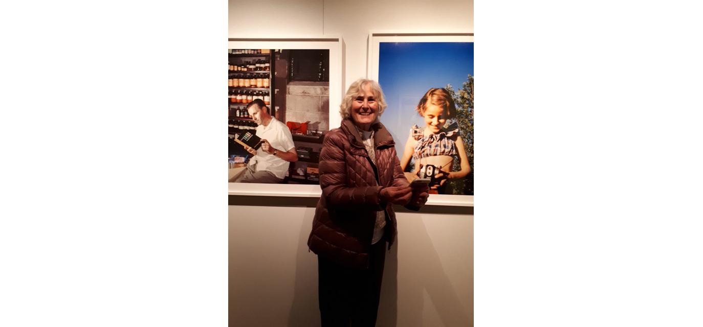 Photographie de Frances Lawrence Edse en visite au Musée McCord, samedi le 17 mai 2018