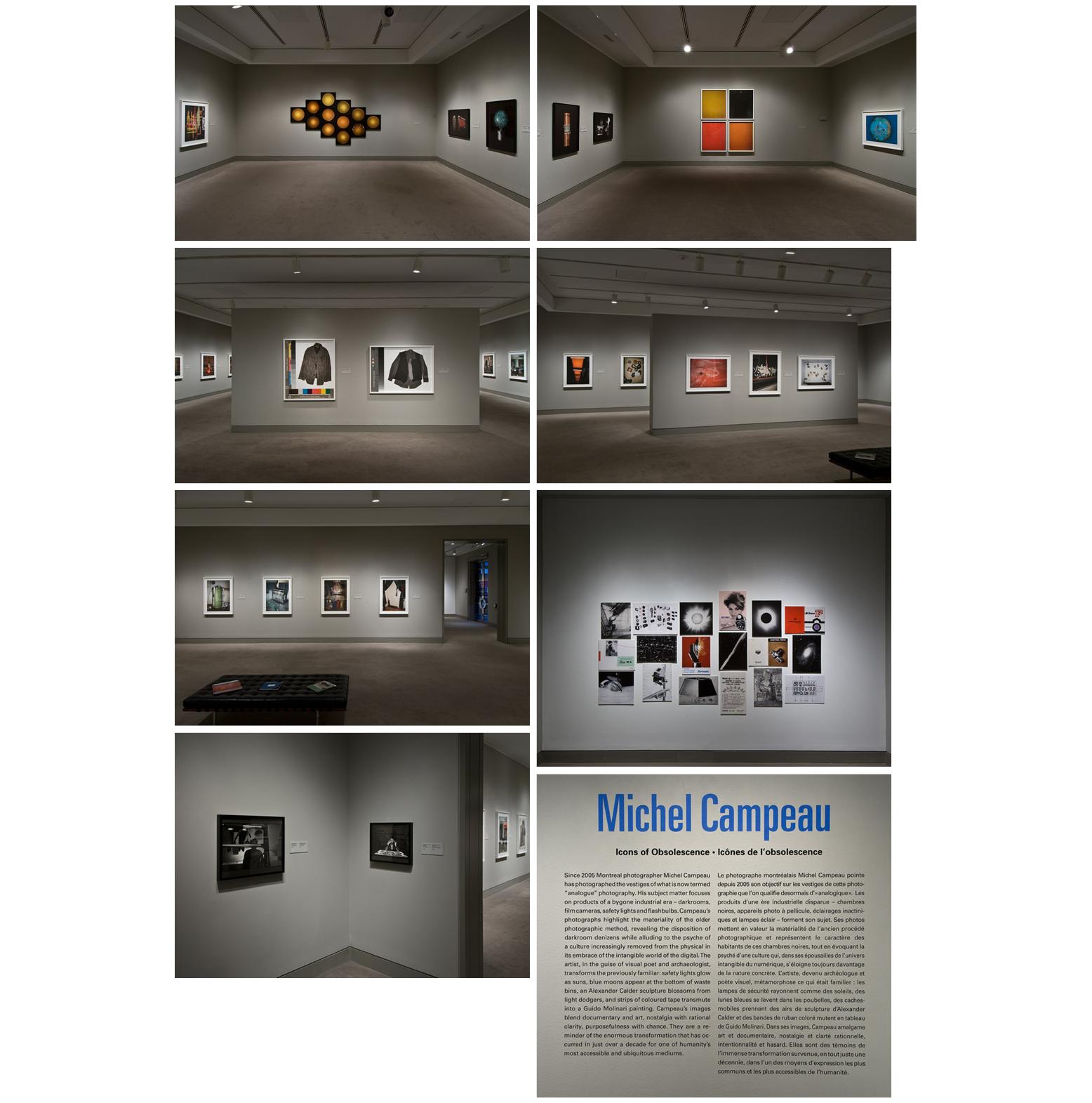 Michel Campeau : Icônes de l'obsolescence  Musée des beaux-arts du Canada, Ottawa, Ontario, du 26 oct. au 5 janv. 2013 Conservatrice : Andrea Kunard, Conservatrice de la photographie, MBAC