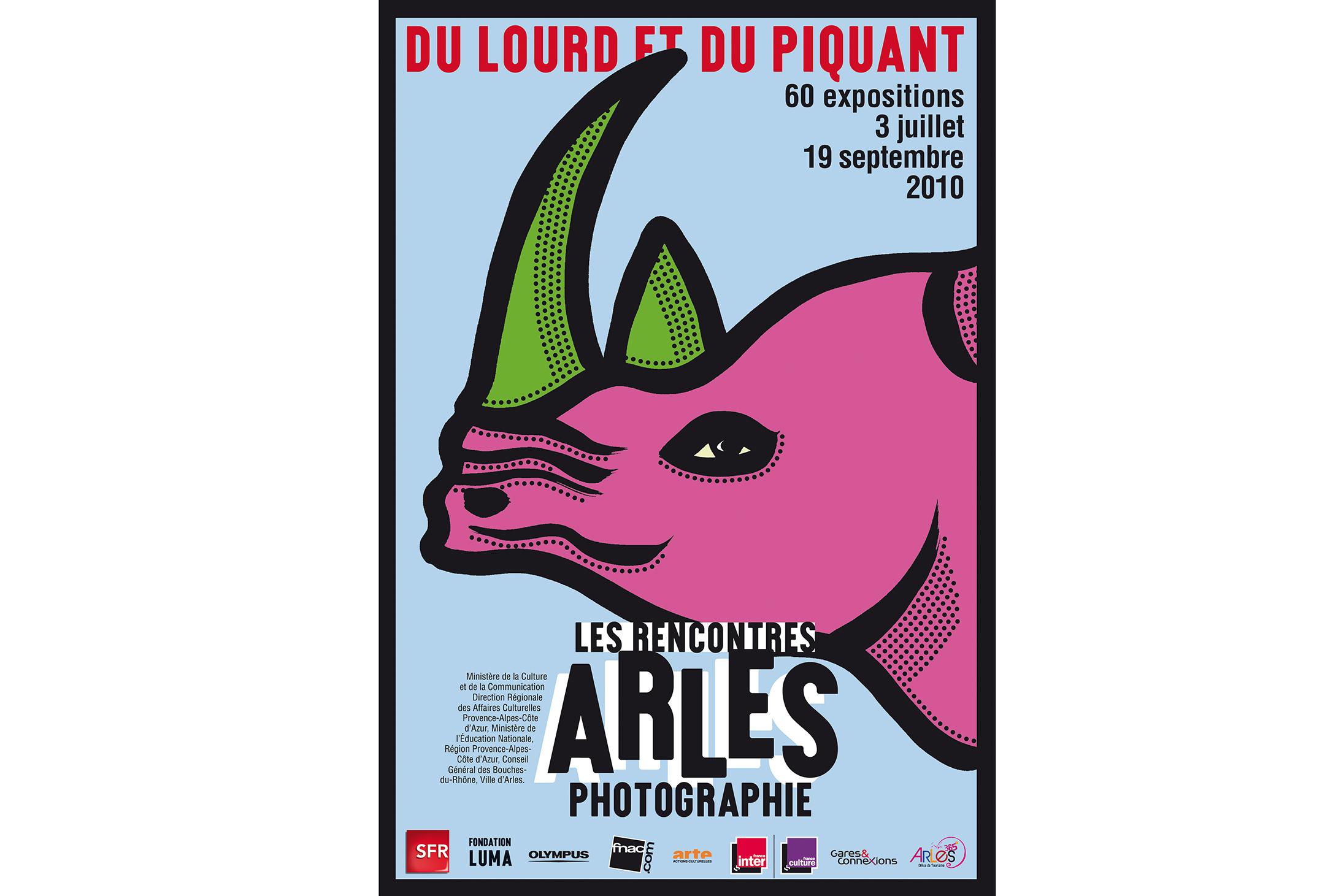 Affiche «Du lourd et du piquant» Les Rencontres d'Arles, France, juillet 2010  Atelier de maintenance, Parc des Ateliers SNCF