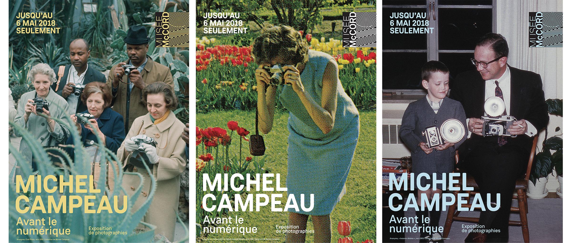 Affiches de l'exposition  Michel Campeau. Avant le numérique , Musée McCord, de 16 février au 6 mai 2018