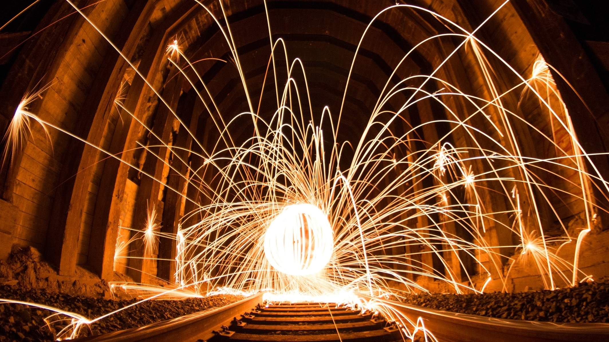 Throwing off sparks
